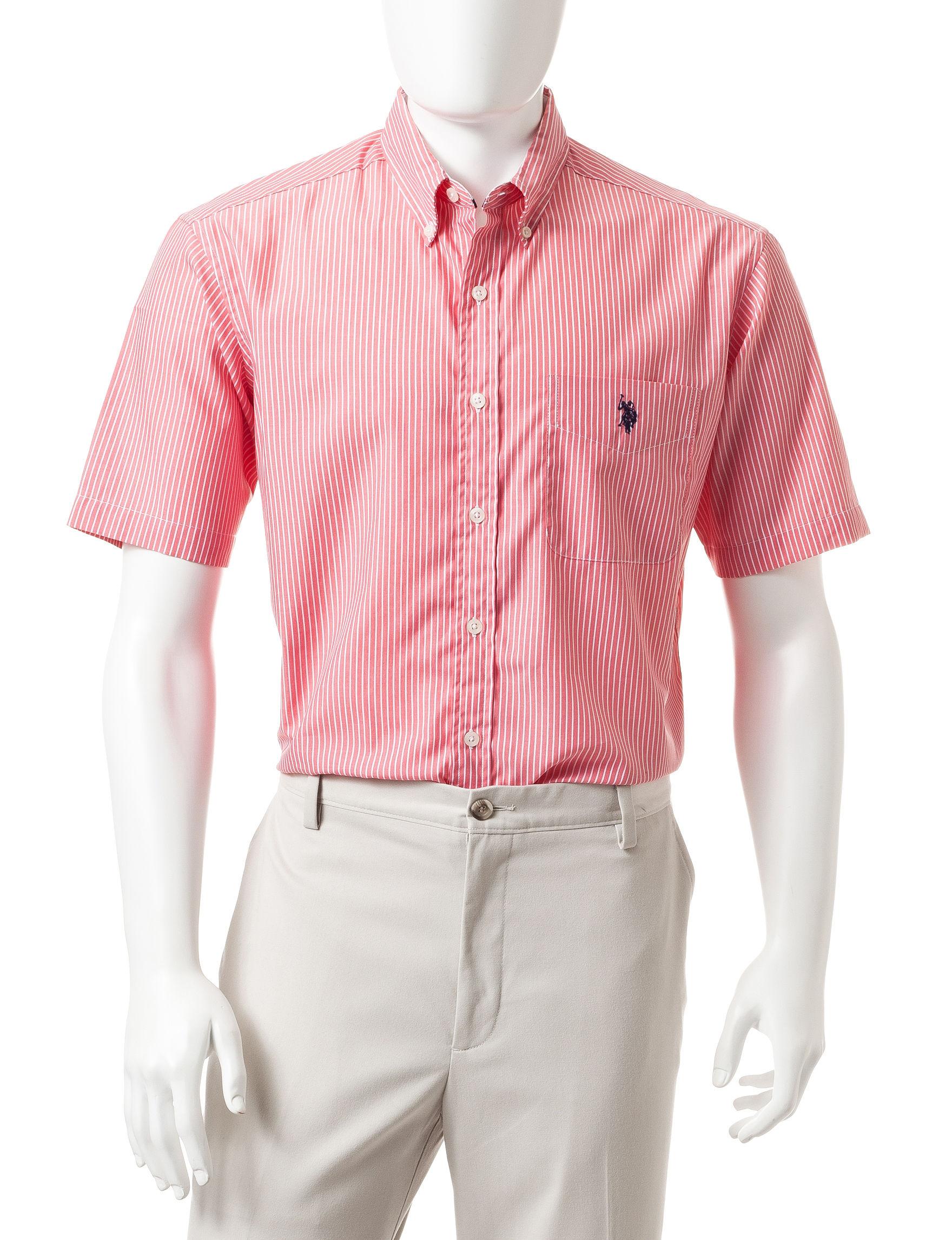 U.S. Polo Assn. Pink Casual Button Down Shirts