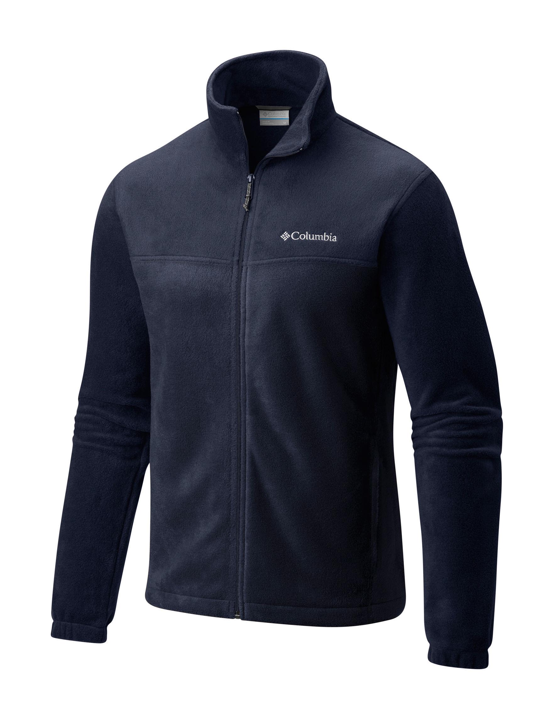 Columbia Navy Fleece & Soft Shell Jackets
