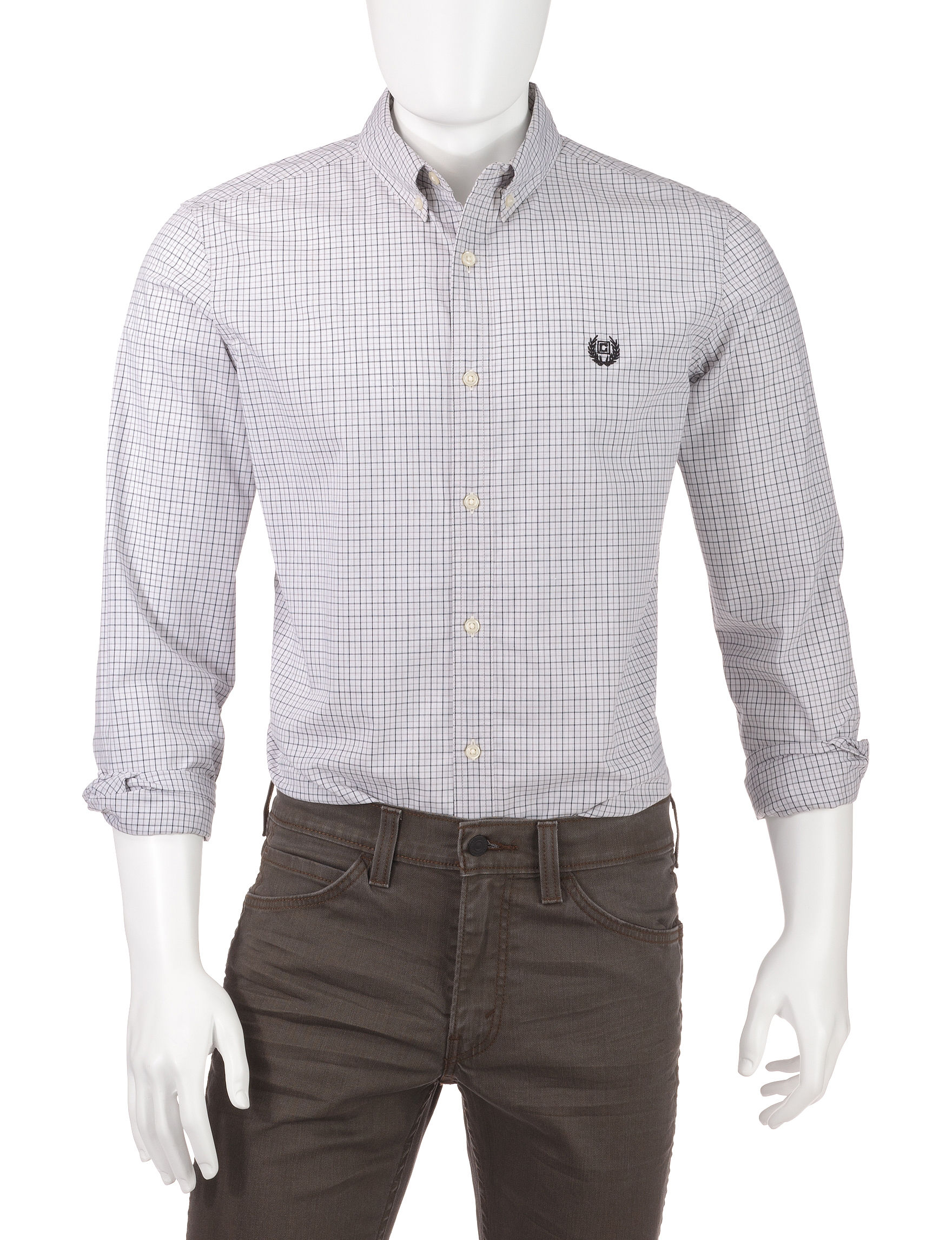Chaps Silver Casual Button Down Shirts