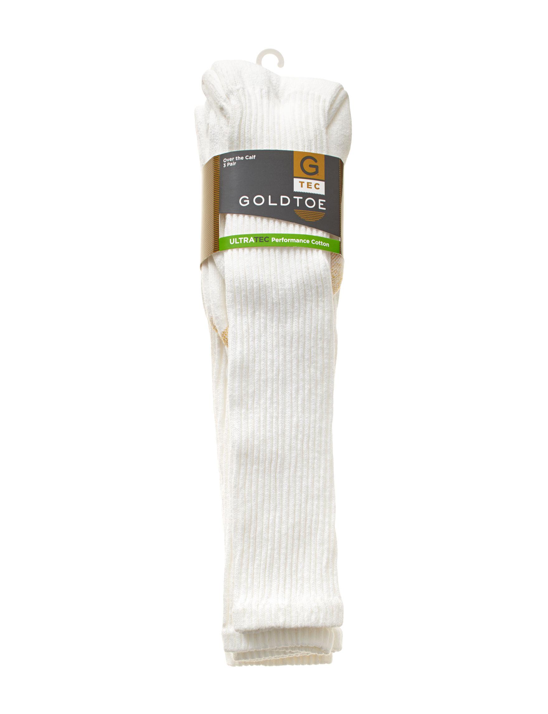 Gold Toe White Socks