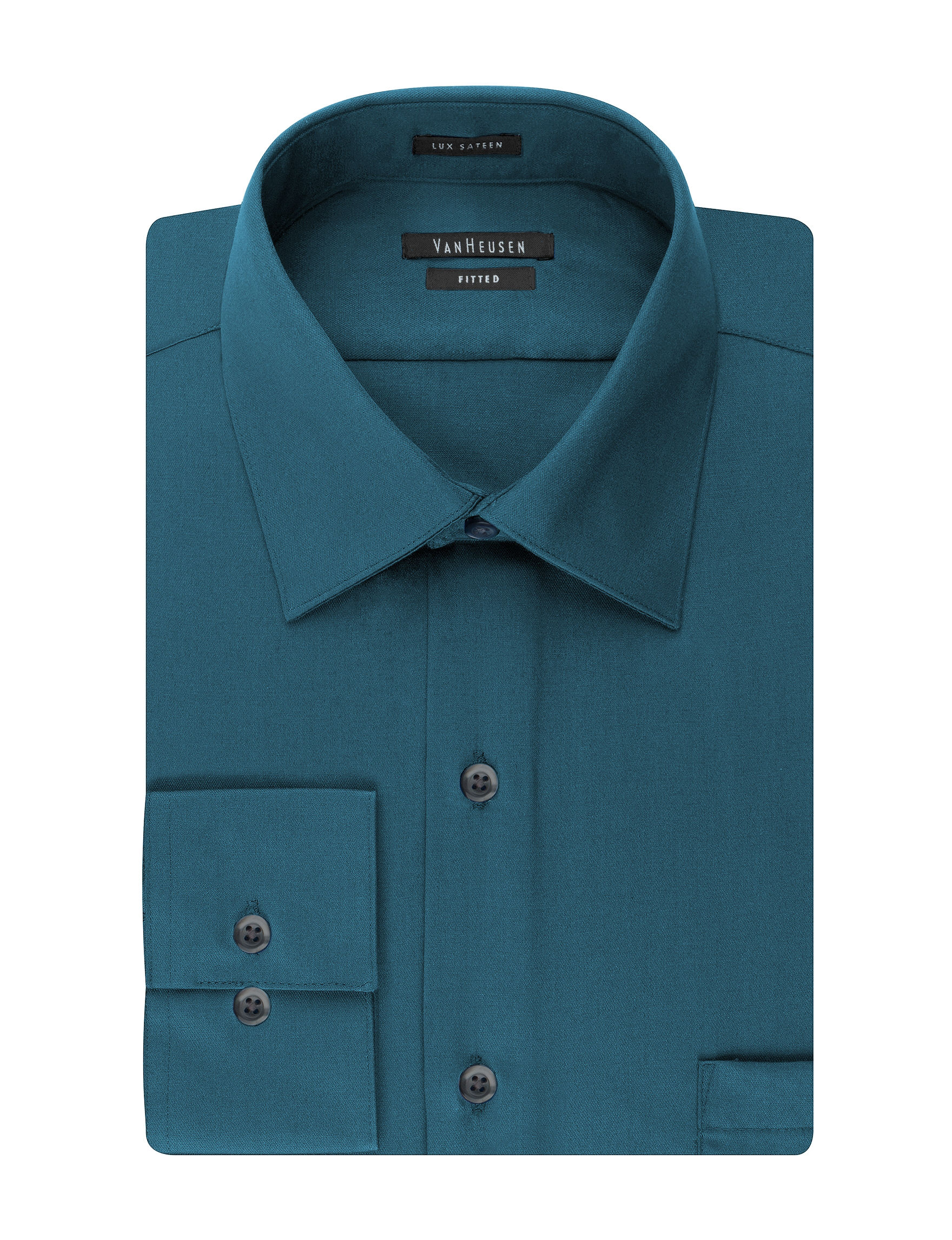 Van Heusen Turq Legion Blue Dress Shirts