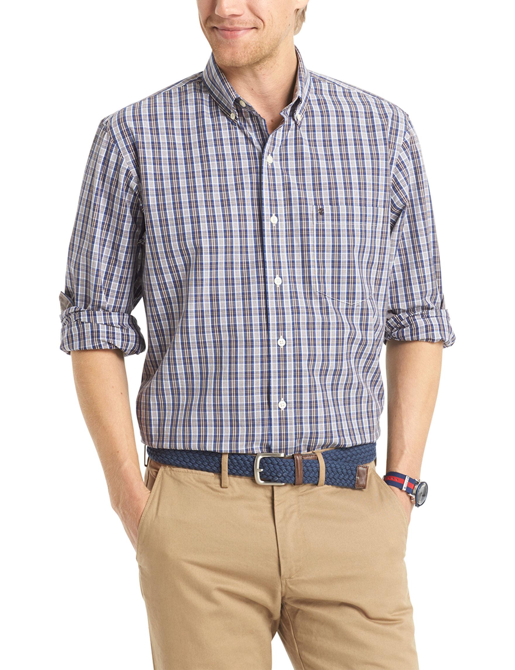 Izod Java Casual Button Down Shirts