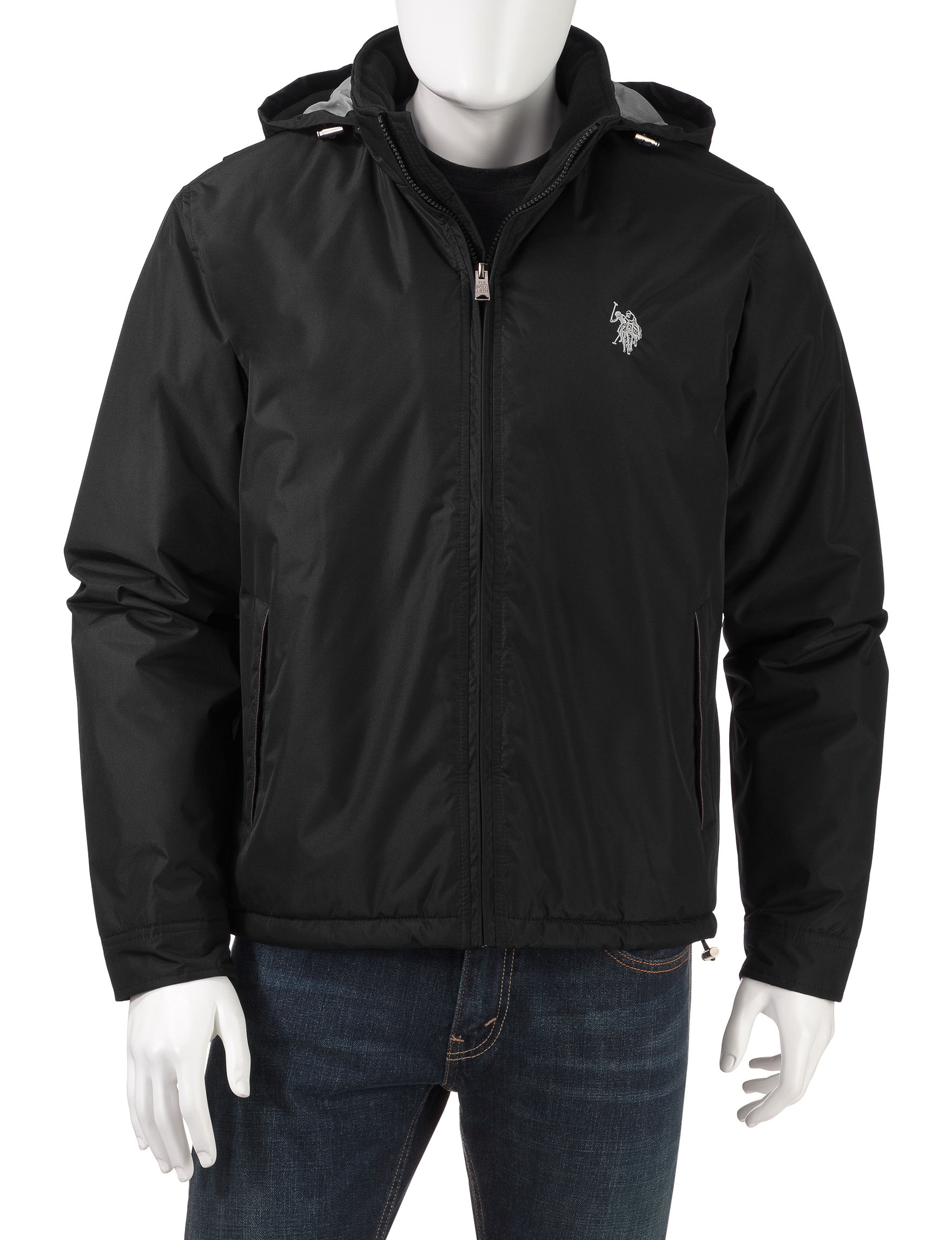 U.S. Polo Assn. Black Insulated Jackets