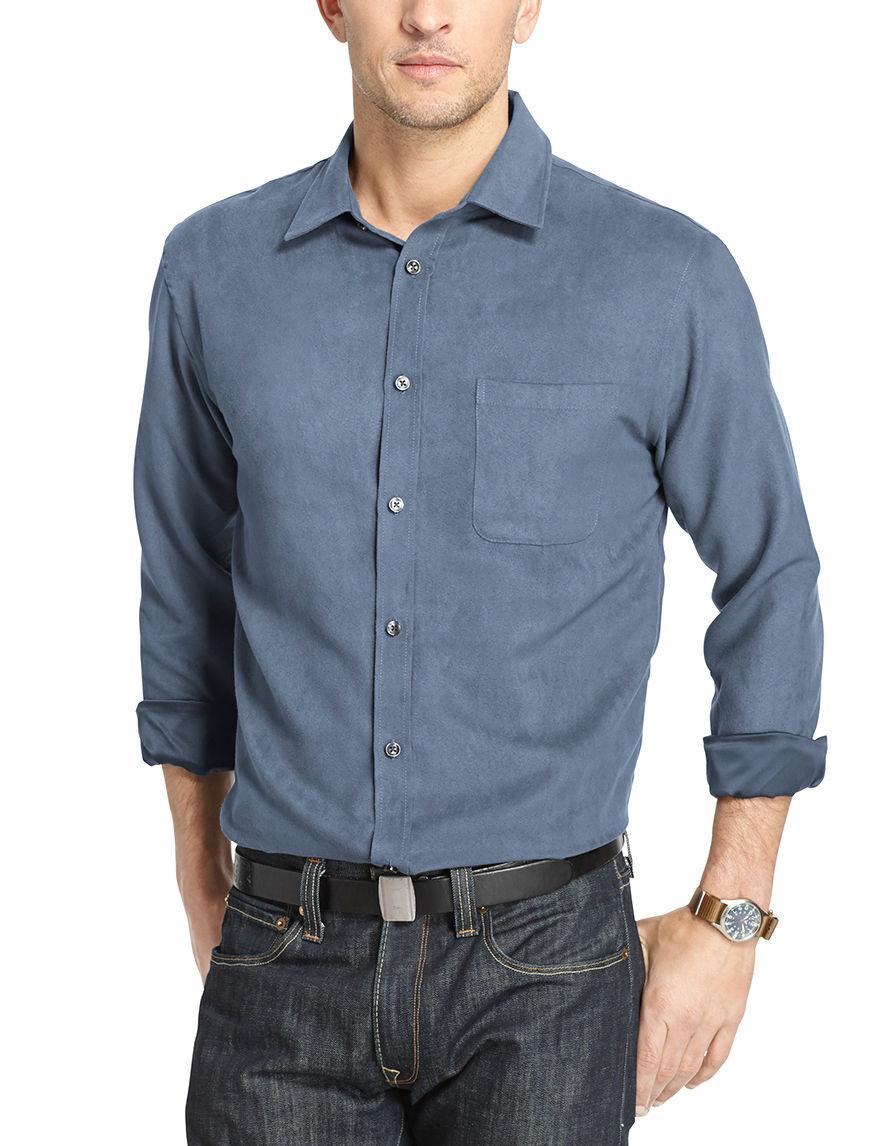 Van Heusen Slate Casual Button Down Shirts