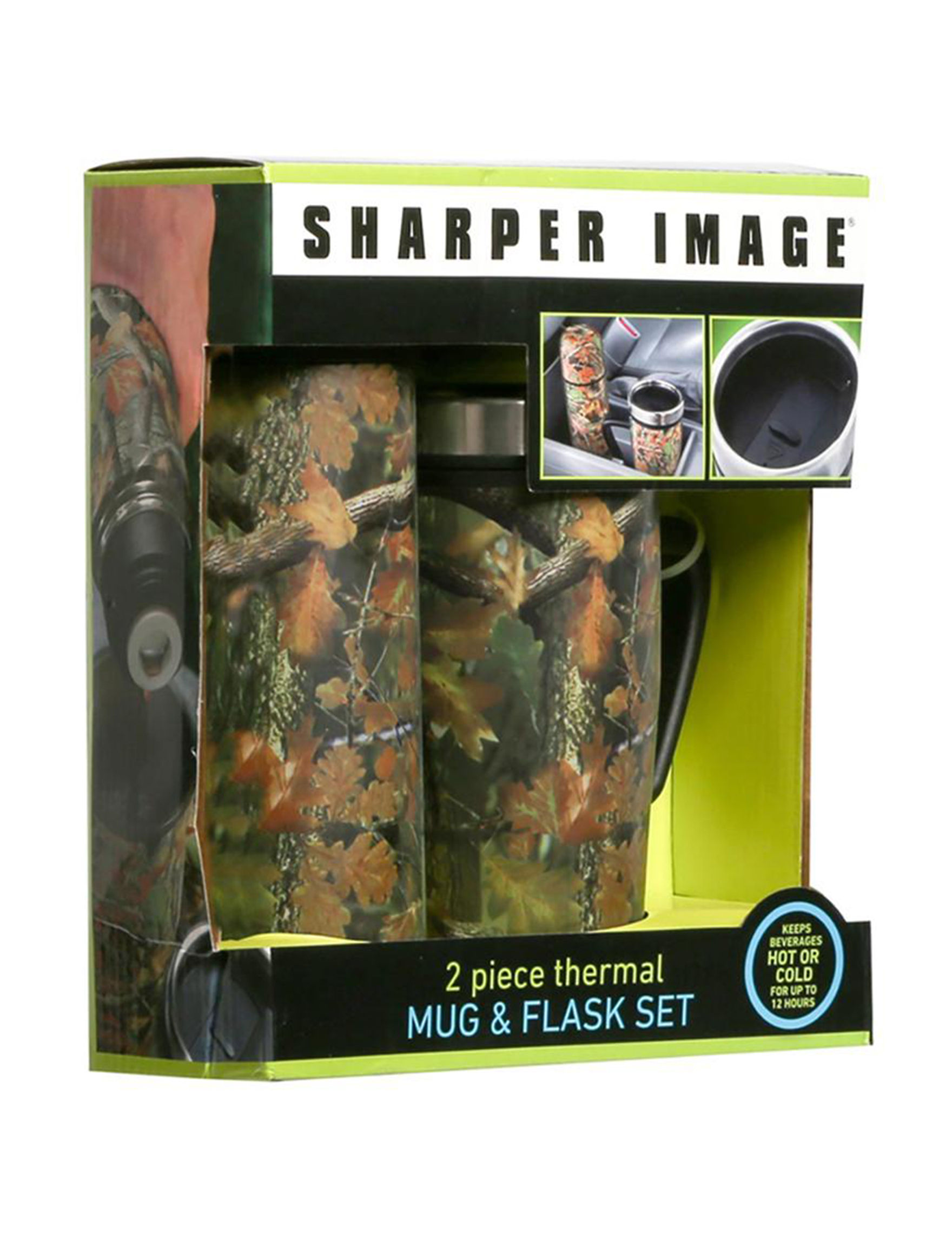 Sharper Image Green Mugs Drinkware