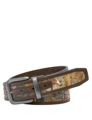 Realtree Mens Camo Print  Brown Reversible Belt Camo 34/36 Realtree
