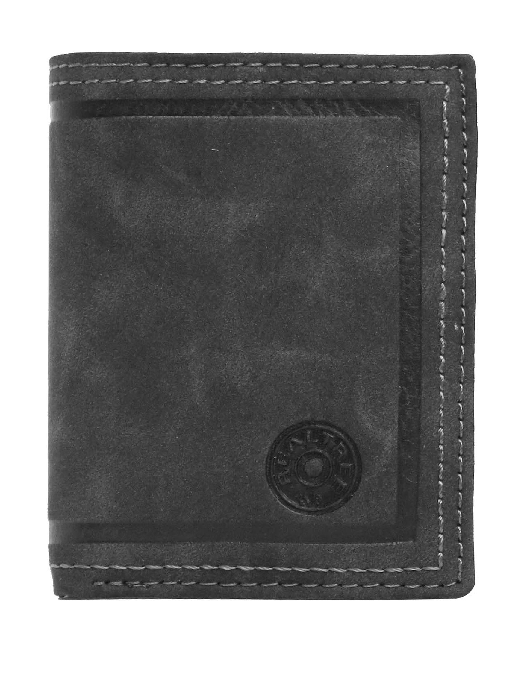 Realtree Black Tri-fold Wallets