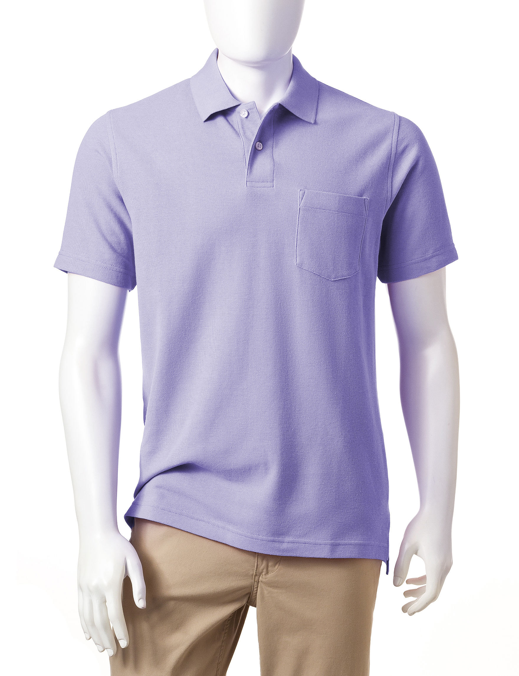 Sun River Soft Periwinkle Polos