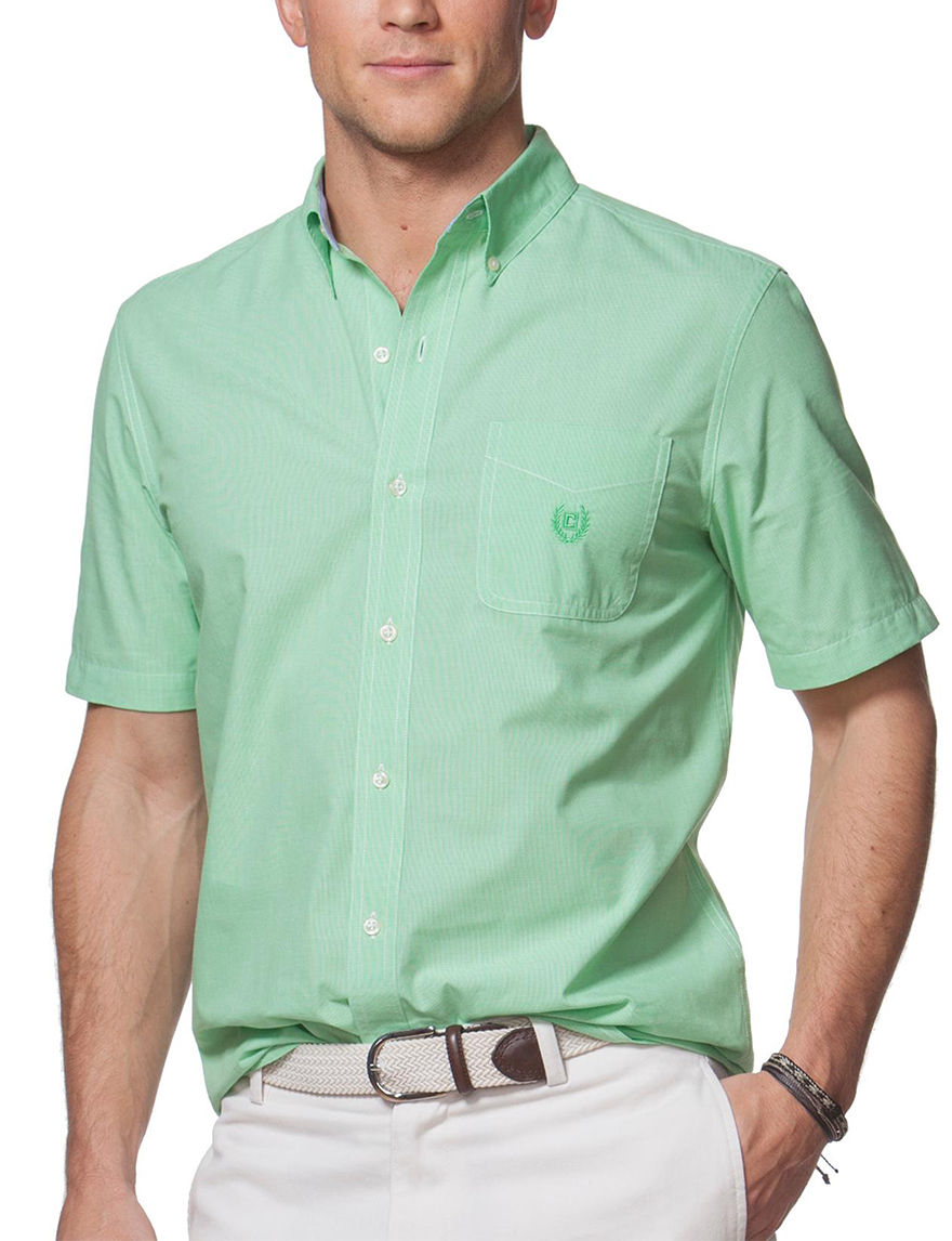 Chaps Lime Casual Button Down Shirts