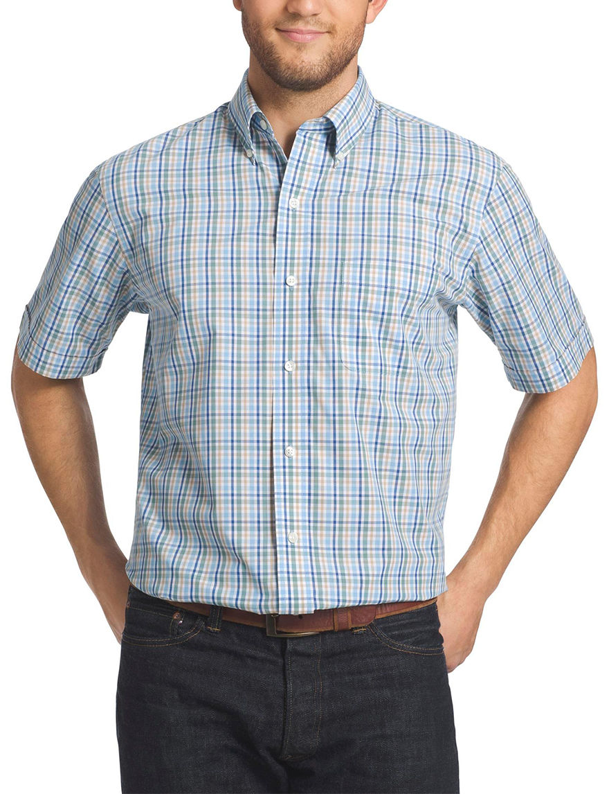 Arrow Sage Brush Green Casual Button Down Shirts