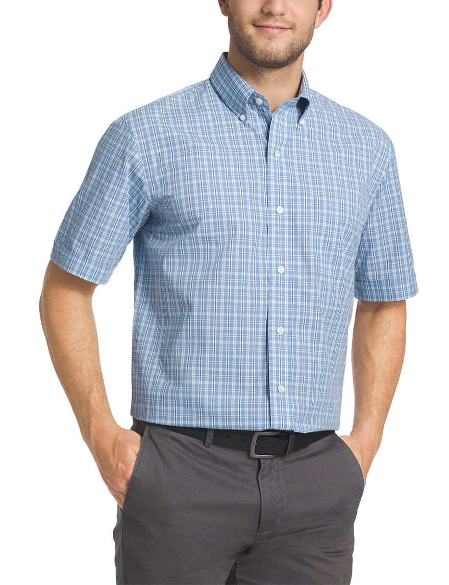 Arrow Silver Lake Blue Casual Button Down Shirts