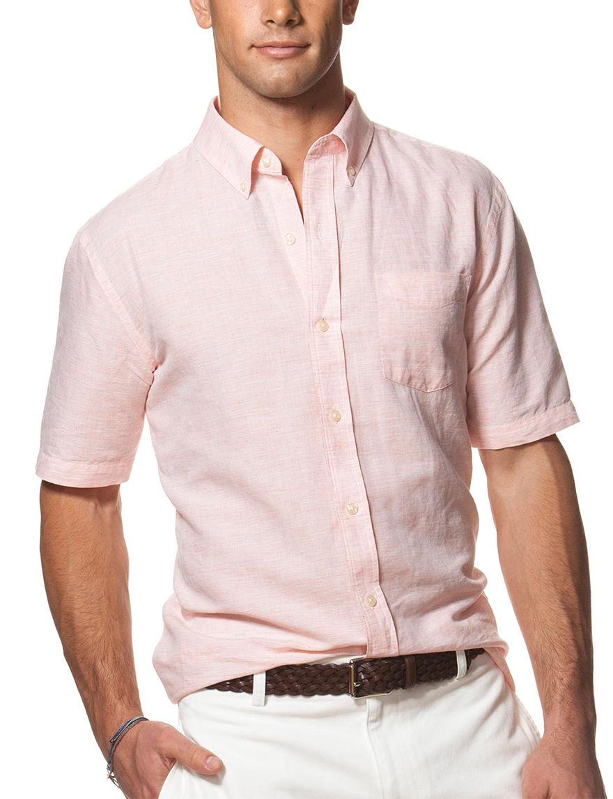 Chaps Orange Casual Button Down Shirts
