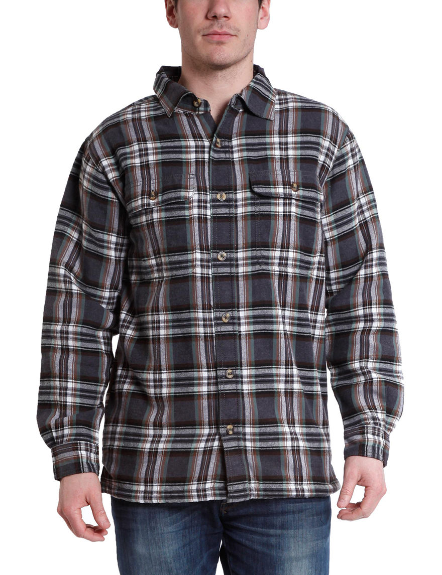 Stanley Grey Plaid Lightweight Jackets & Blazers
