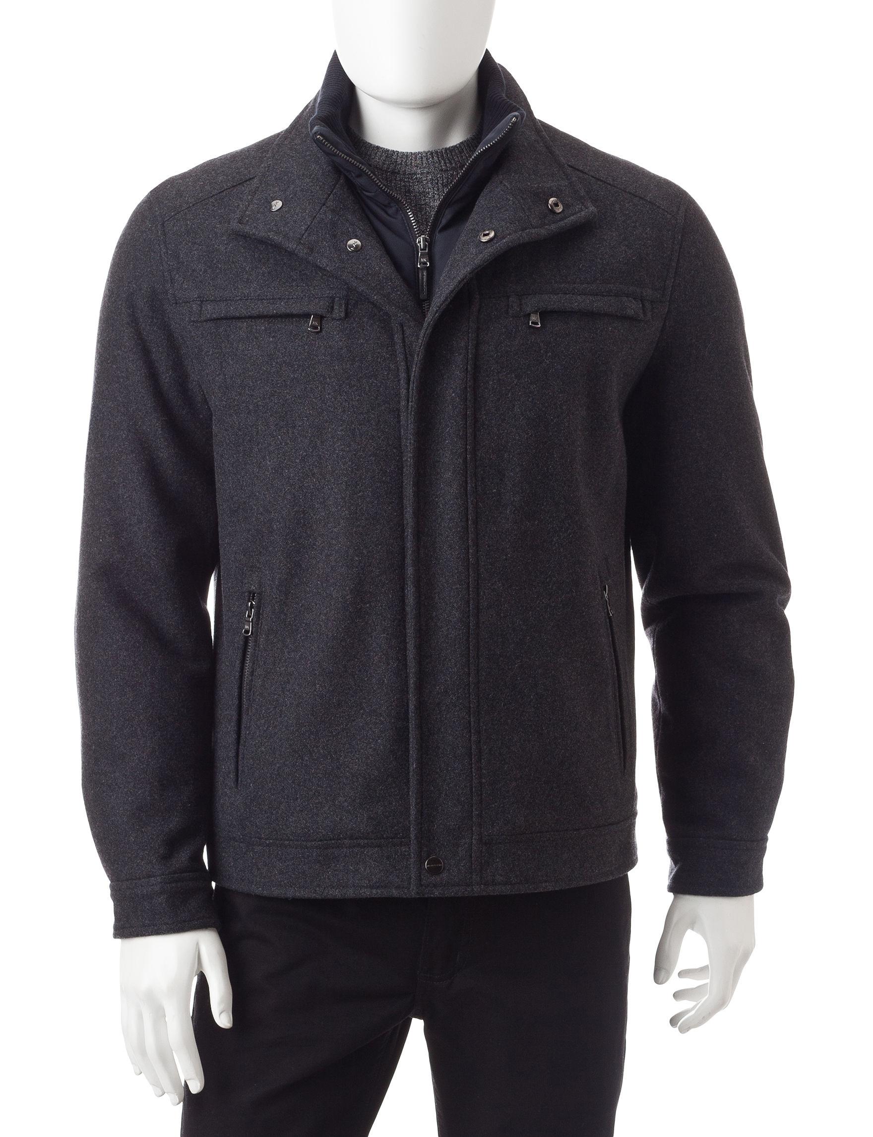 Michael Kors Black Car Coats