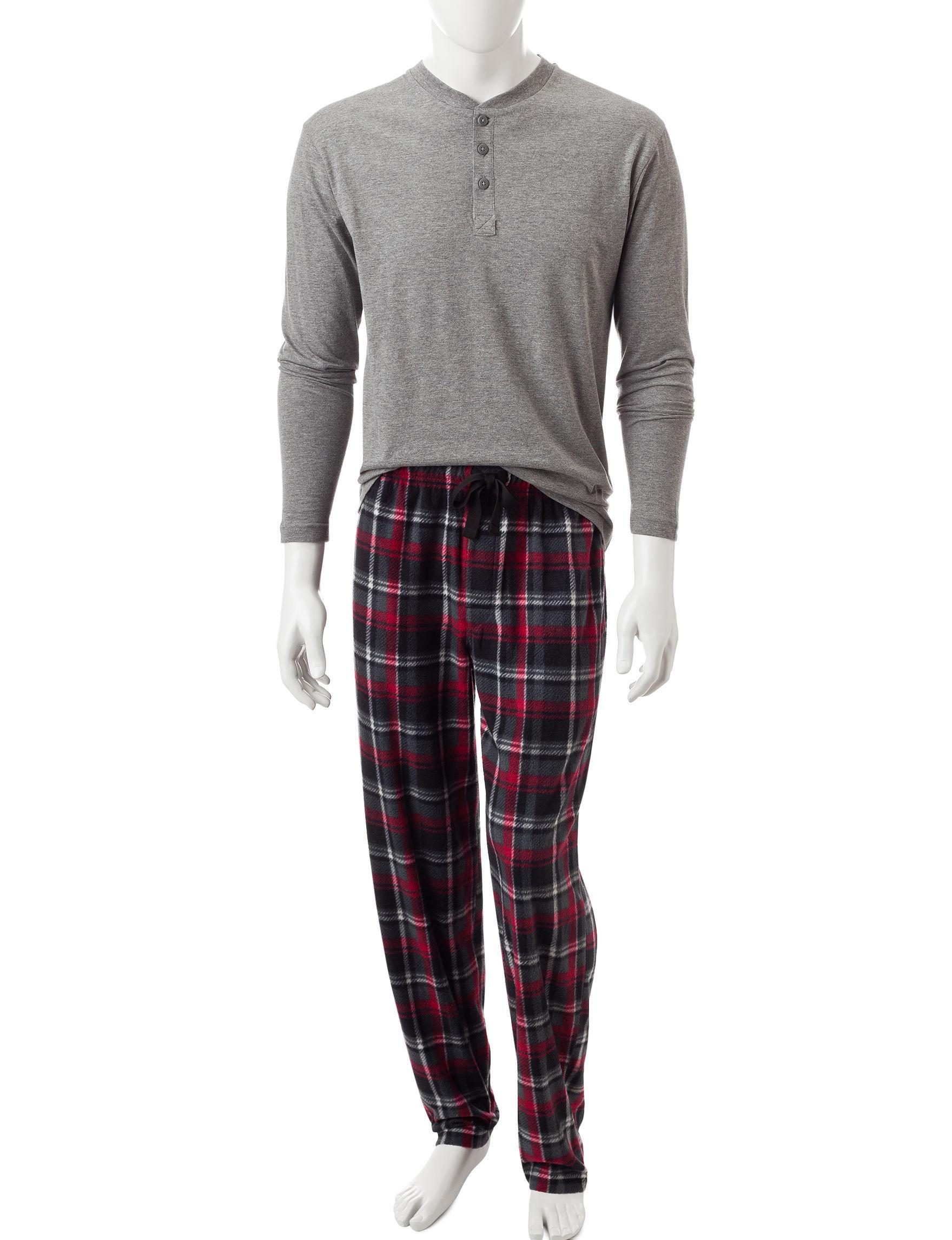 Izod Grey Heather Pajama Sets