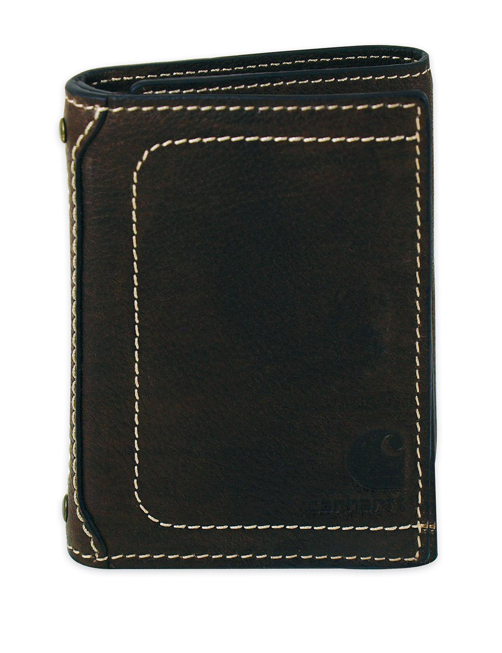 Carhartt Brown Tri-fold Wallets