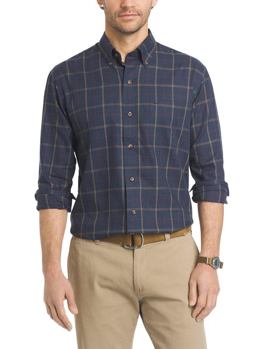 Arrow Blue Casual Button Down Shirts