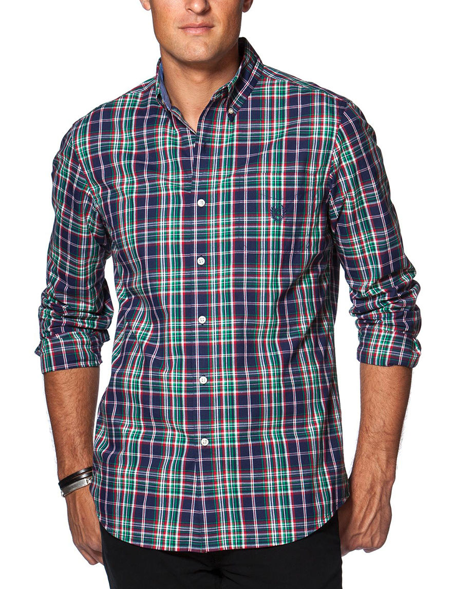 Chaps True Navy Casual Button Down Shirts