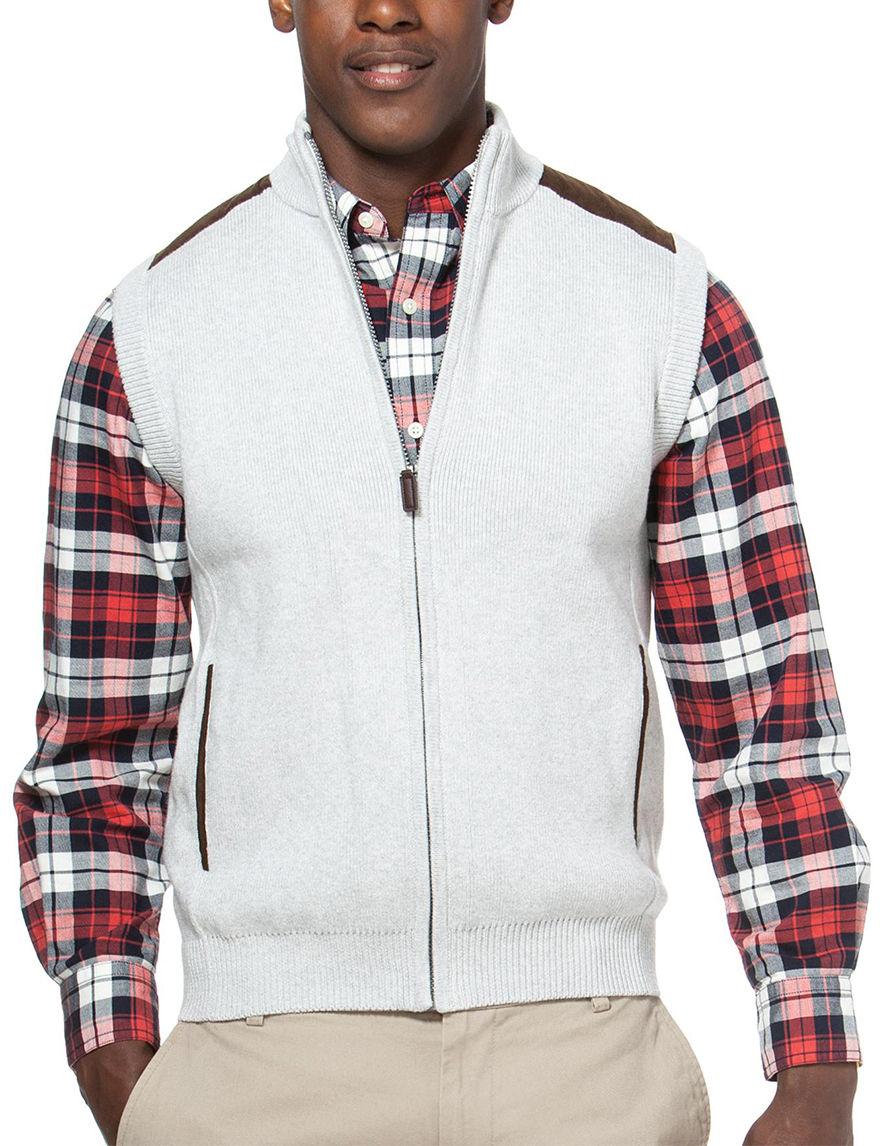 Chaps Grey Vests