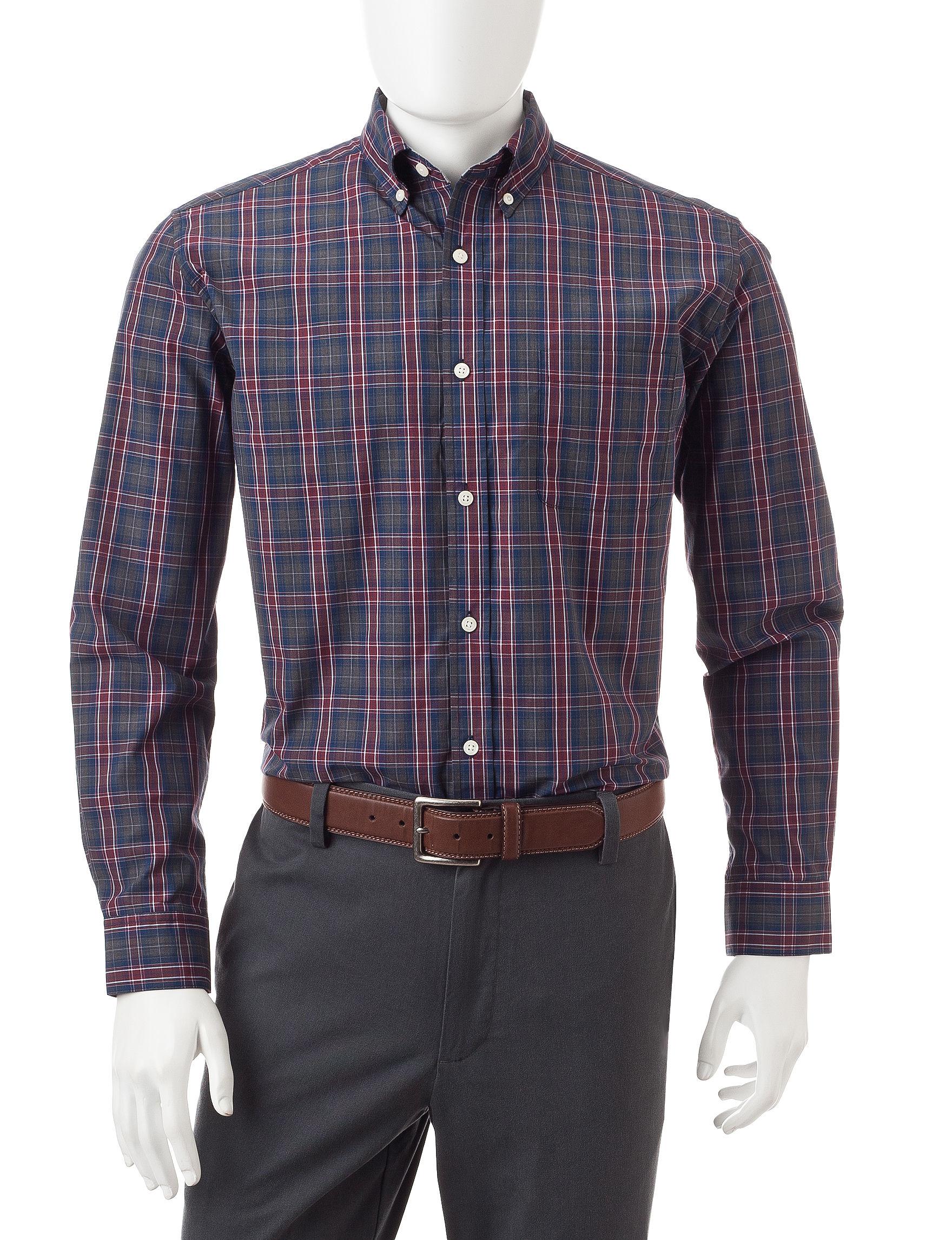 U.S. Polo Assn. Burgundy Casual Button Down Shirts