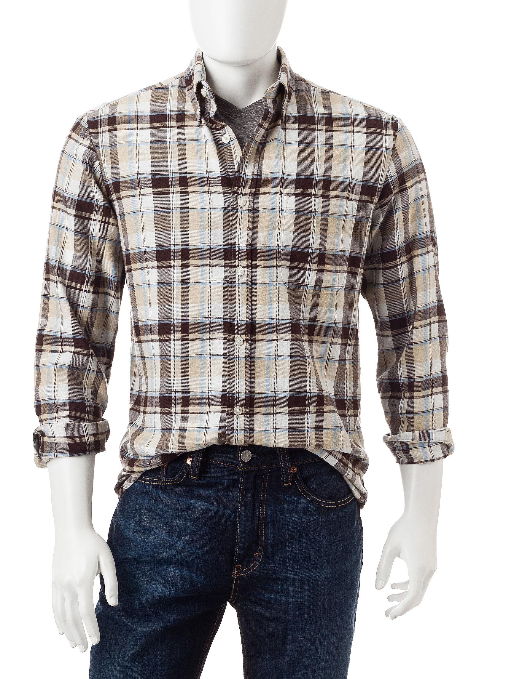 Sun River Sable Casual Button Down Shirts