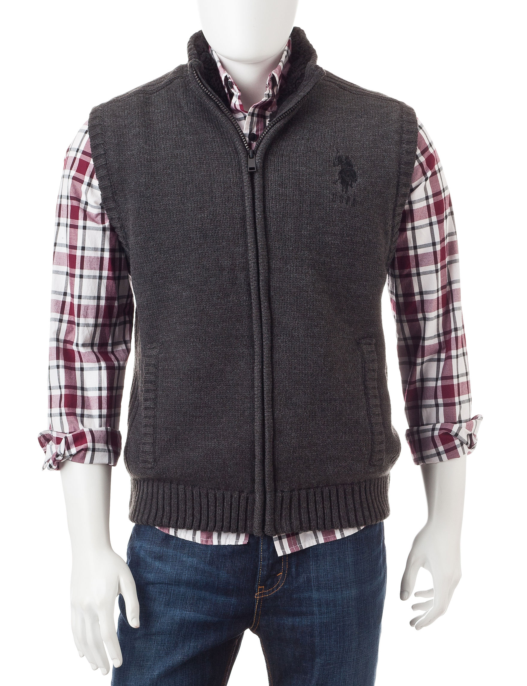 U.S. Polo Assn. Charcoal Vests