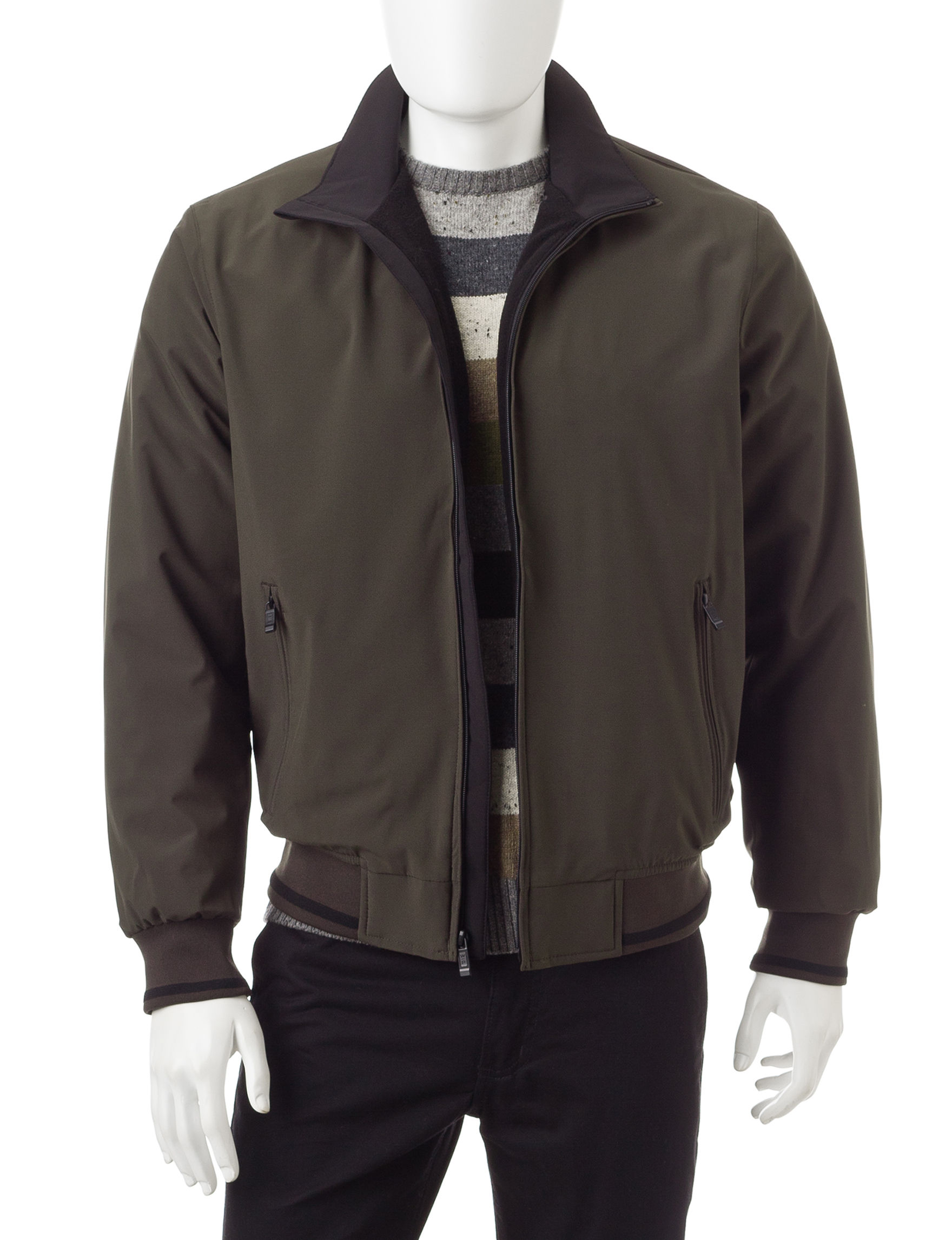 Weatherproof Green Bomber & Moto Jackets Fleece & Soft Shell Jackets