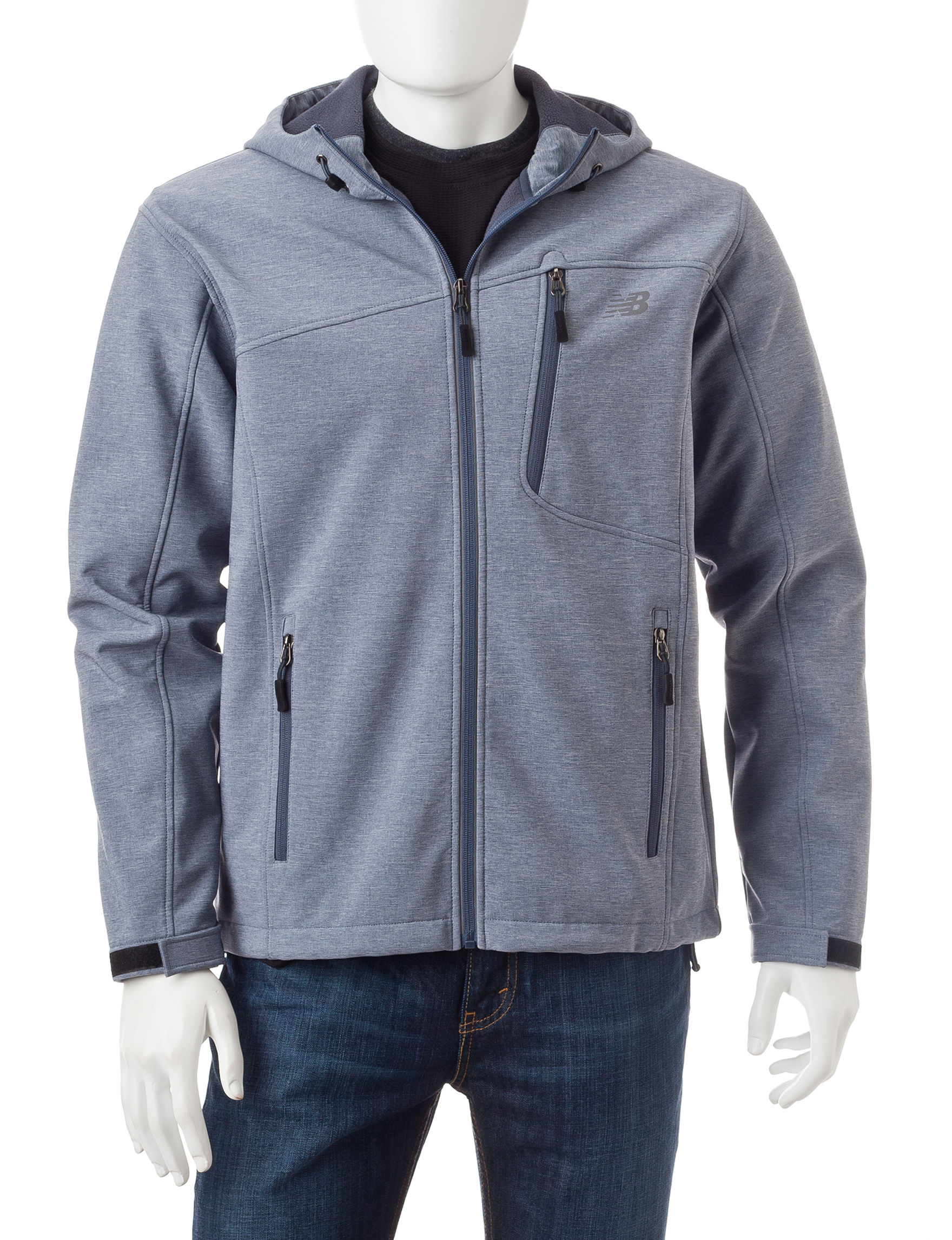 New Balance Light Grey Fleece & Soft Shell Jackets