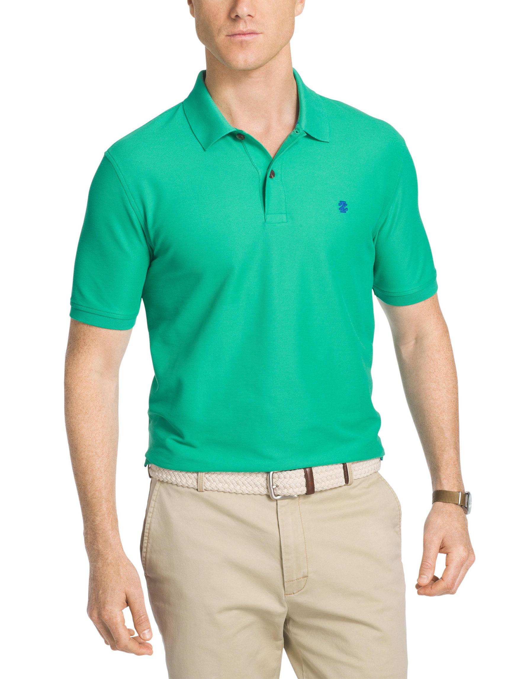 Izod Green Polos