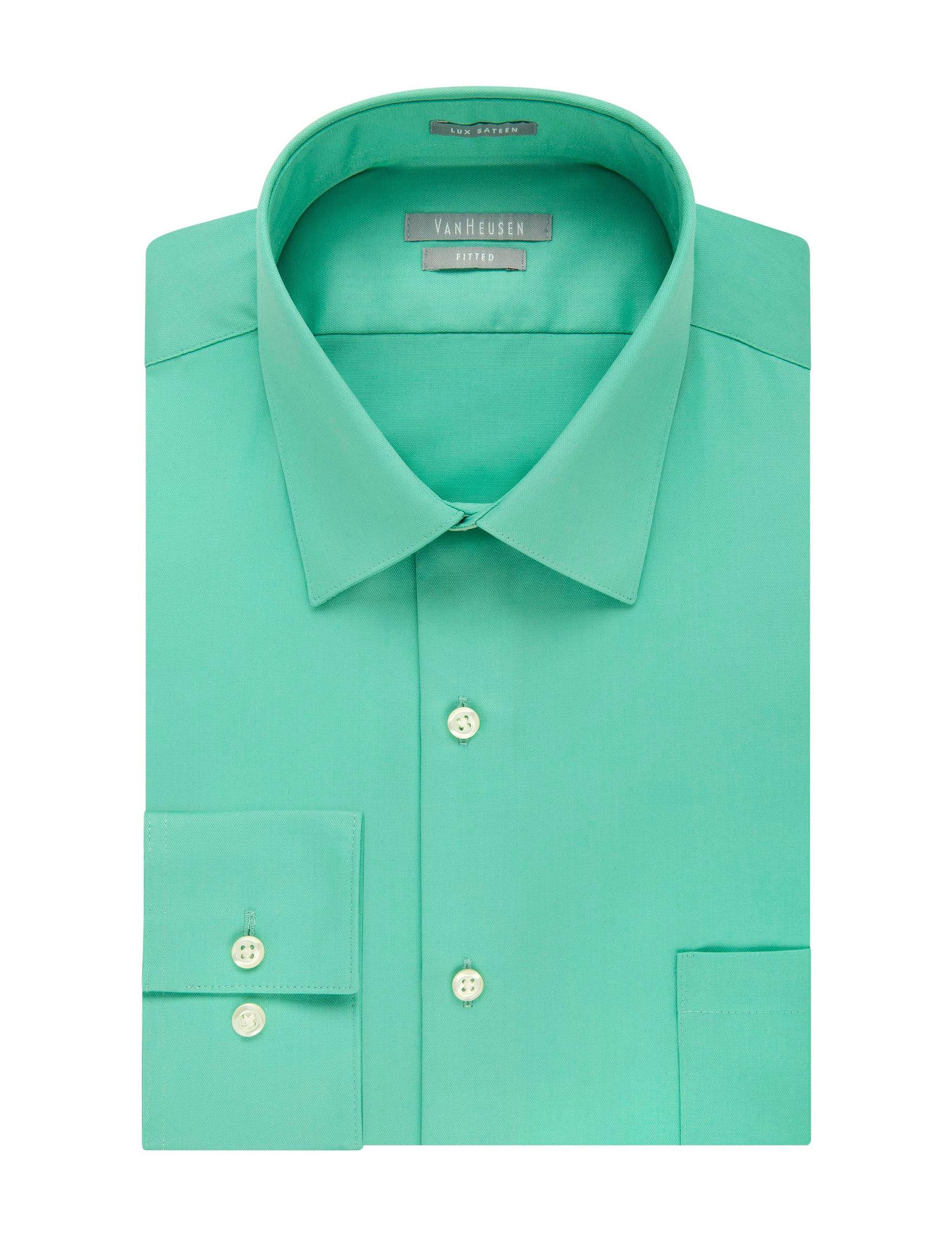Van Heusen Green Dress Shirts