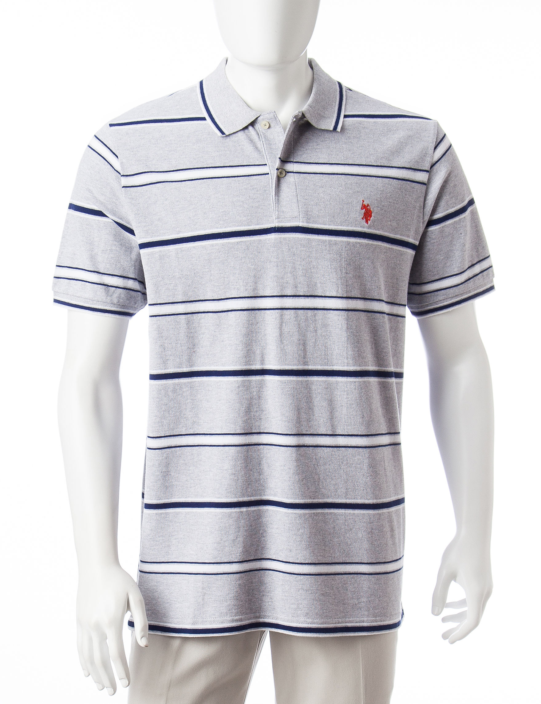 U.S. Polo Assn. Light Grey Polos