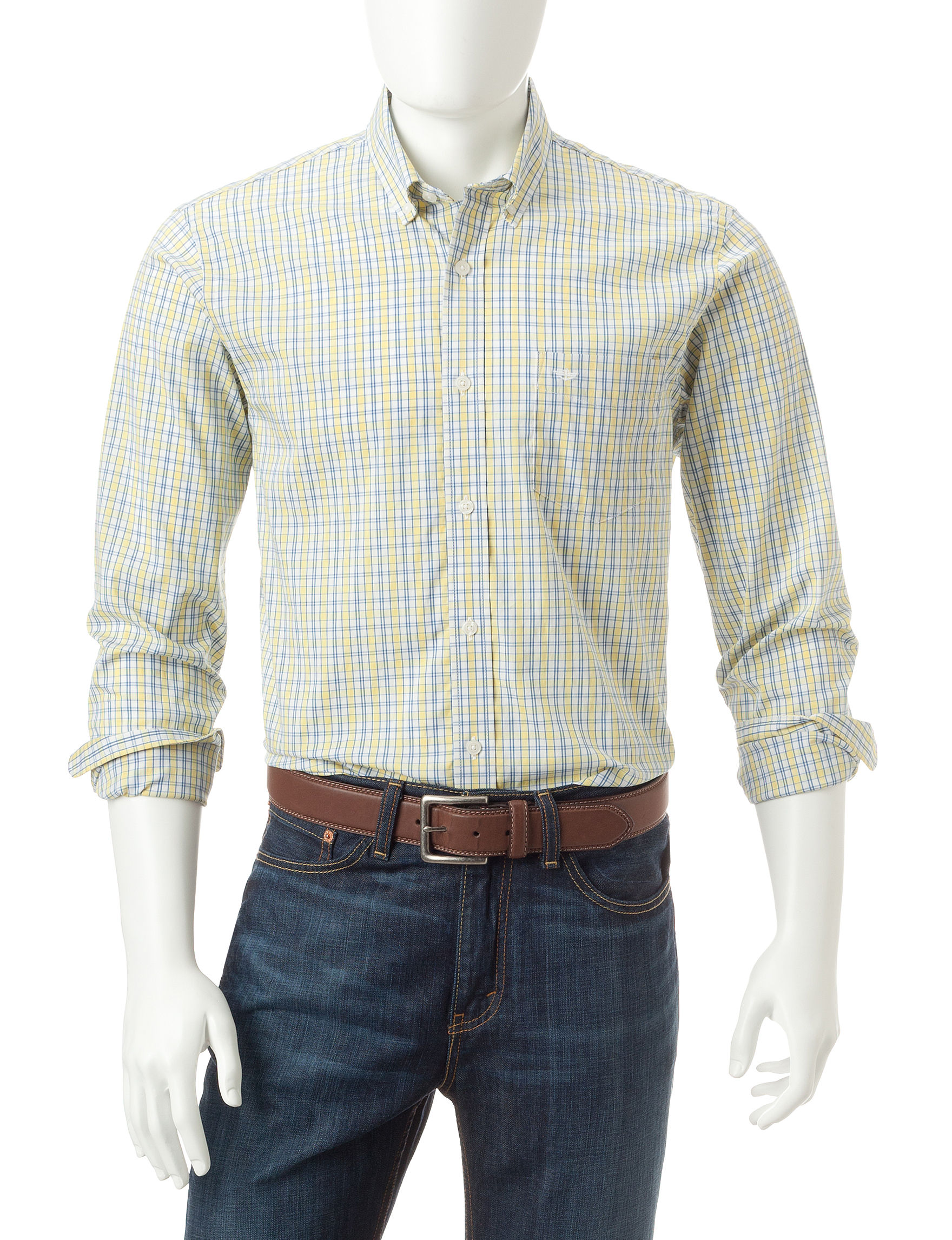 Dockers Lemon Drop Casual Button Down Shirts