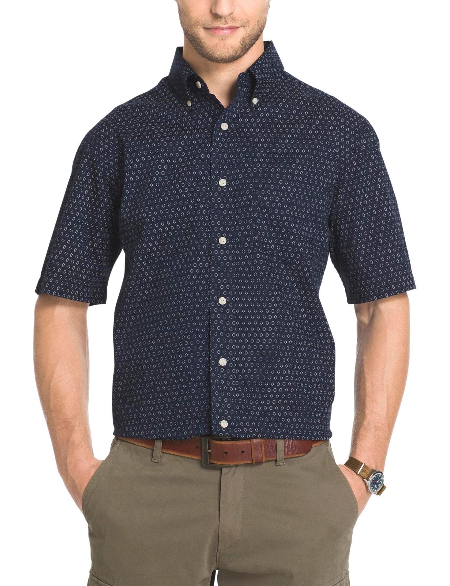 Arrow Navy Casual Button Down Shirts