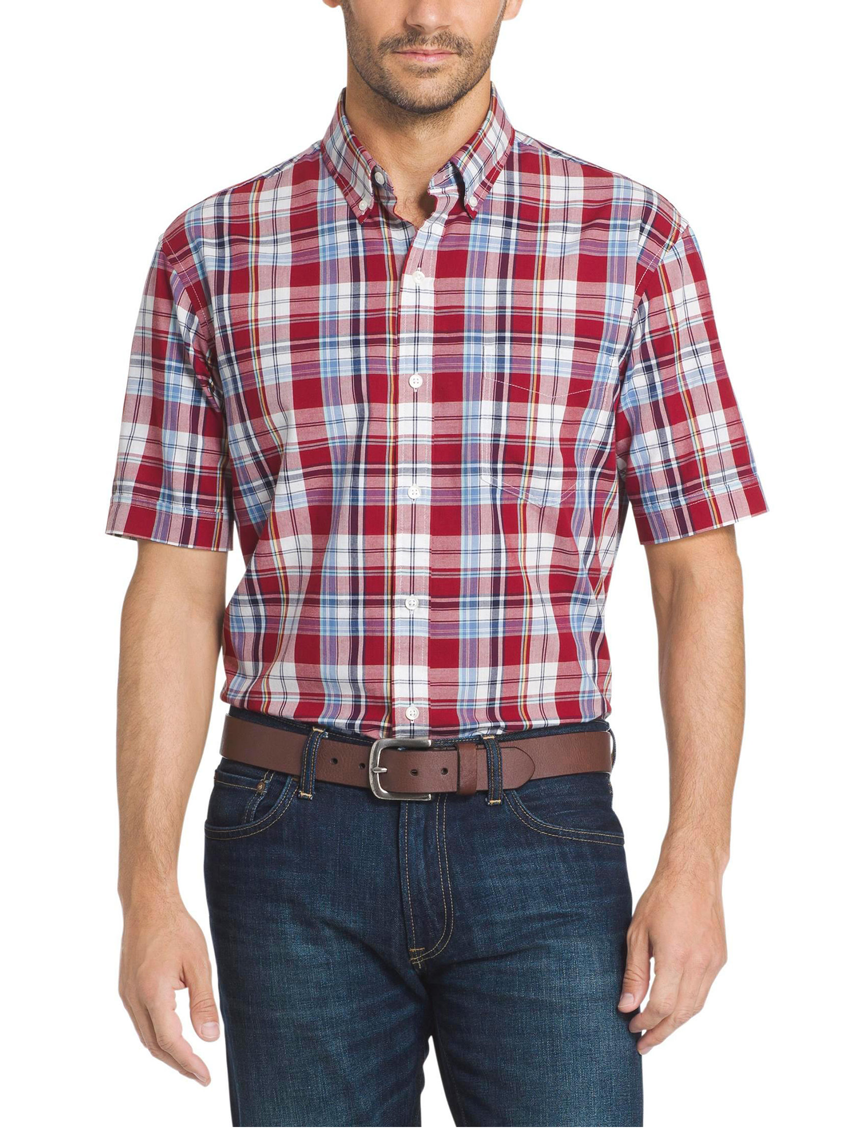 Arrow Sundried Tomato Heather Casual Button Down Shirts