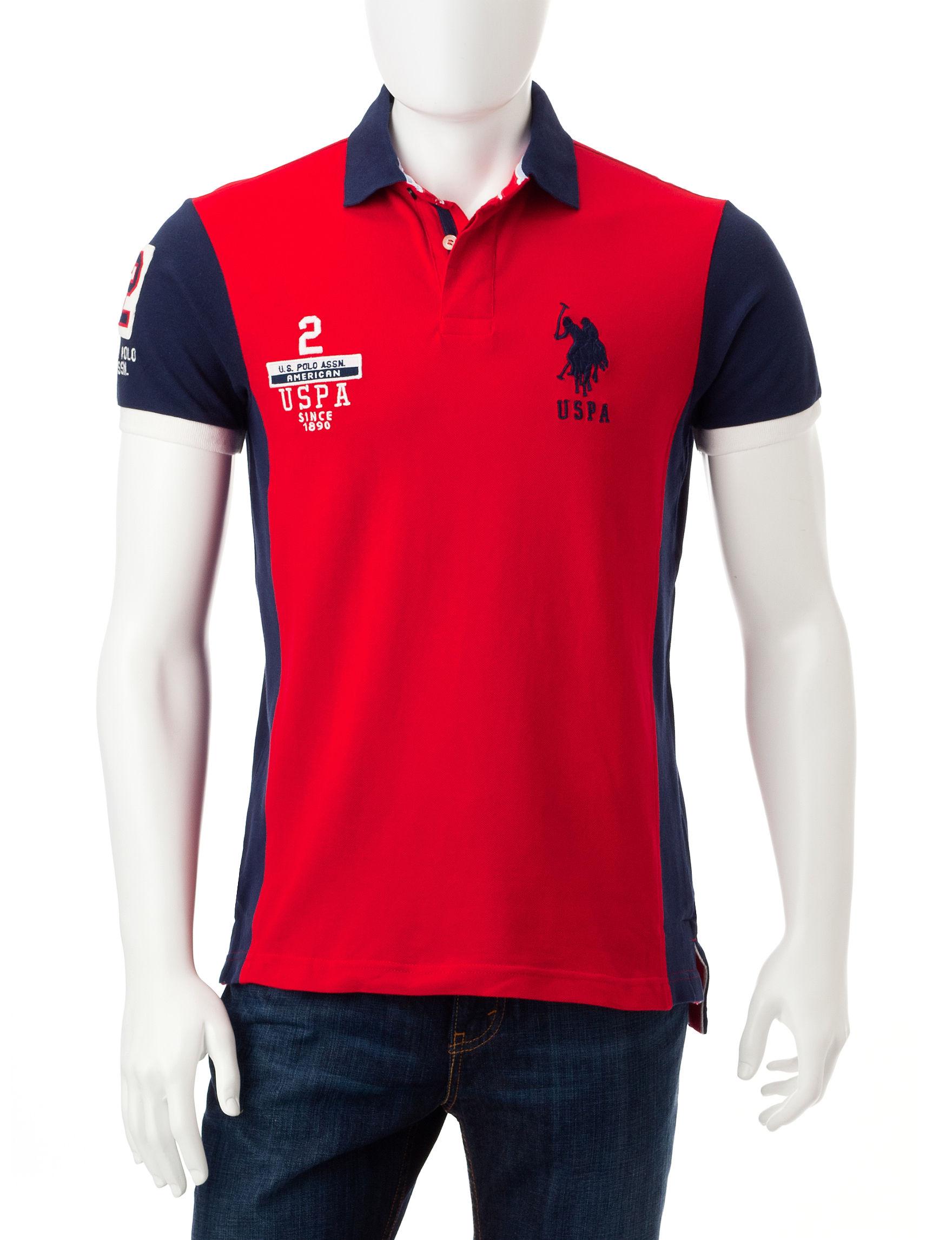 U.S. Polo Assn. Red Polos