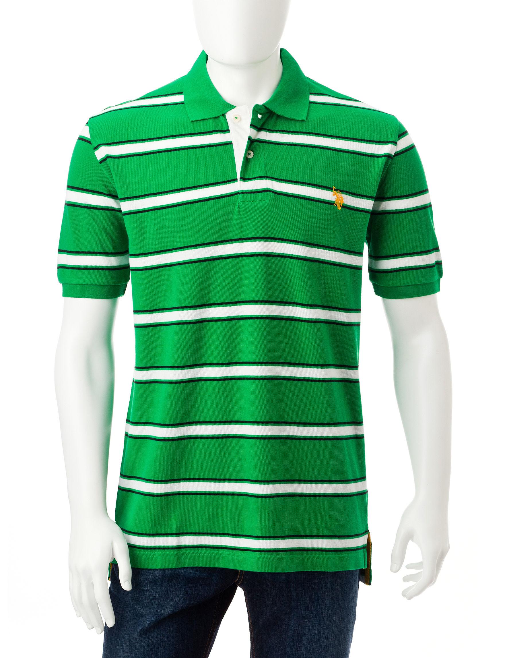 U.S. Polo Assn. Green Polos