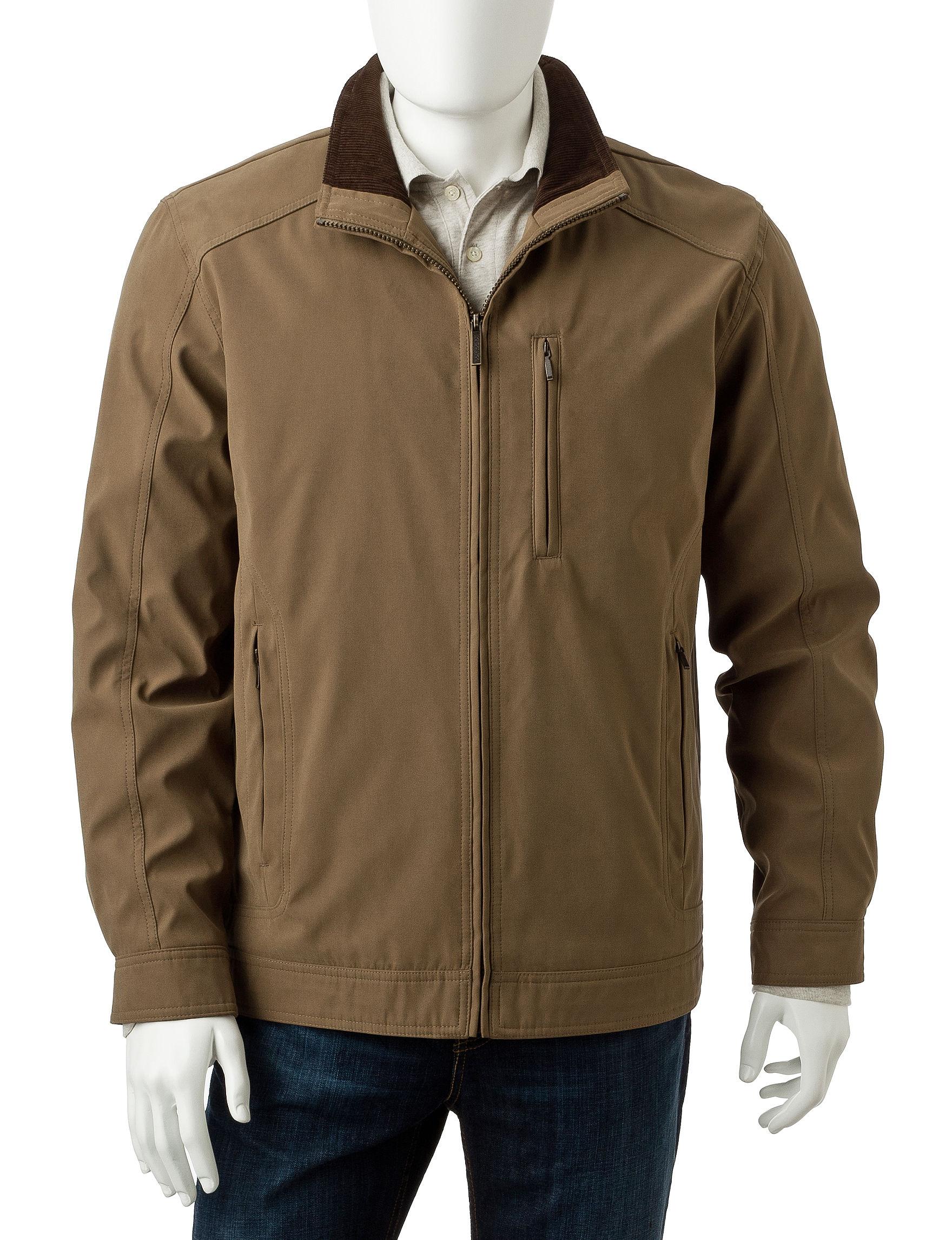 London Fog Khaki Lightweight Jackets & Blazers