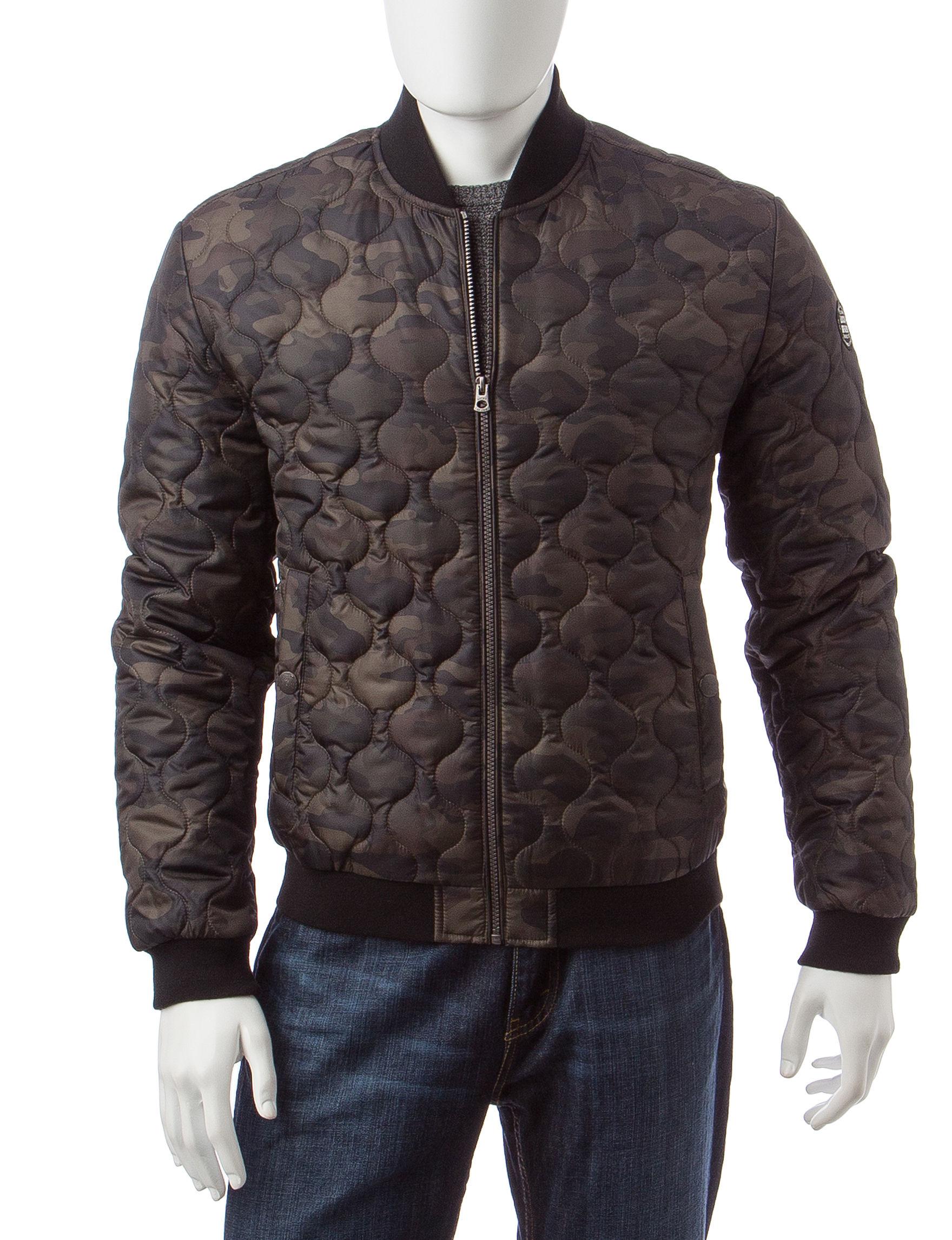 Lucky Brand Camo Bomber & Moto Jackets