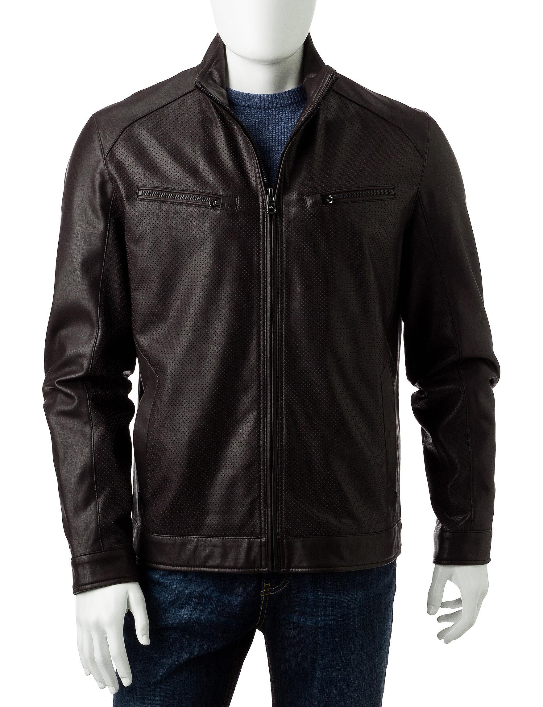 Michael Kors Espresso Bomber & Moto Jackets