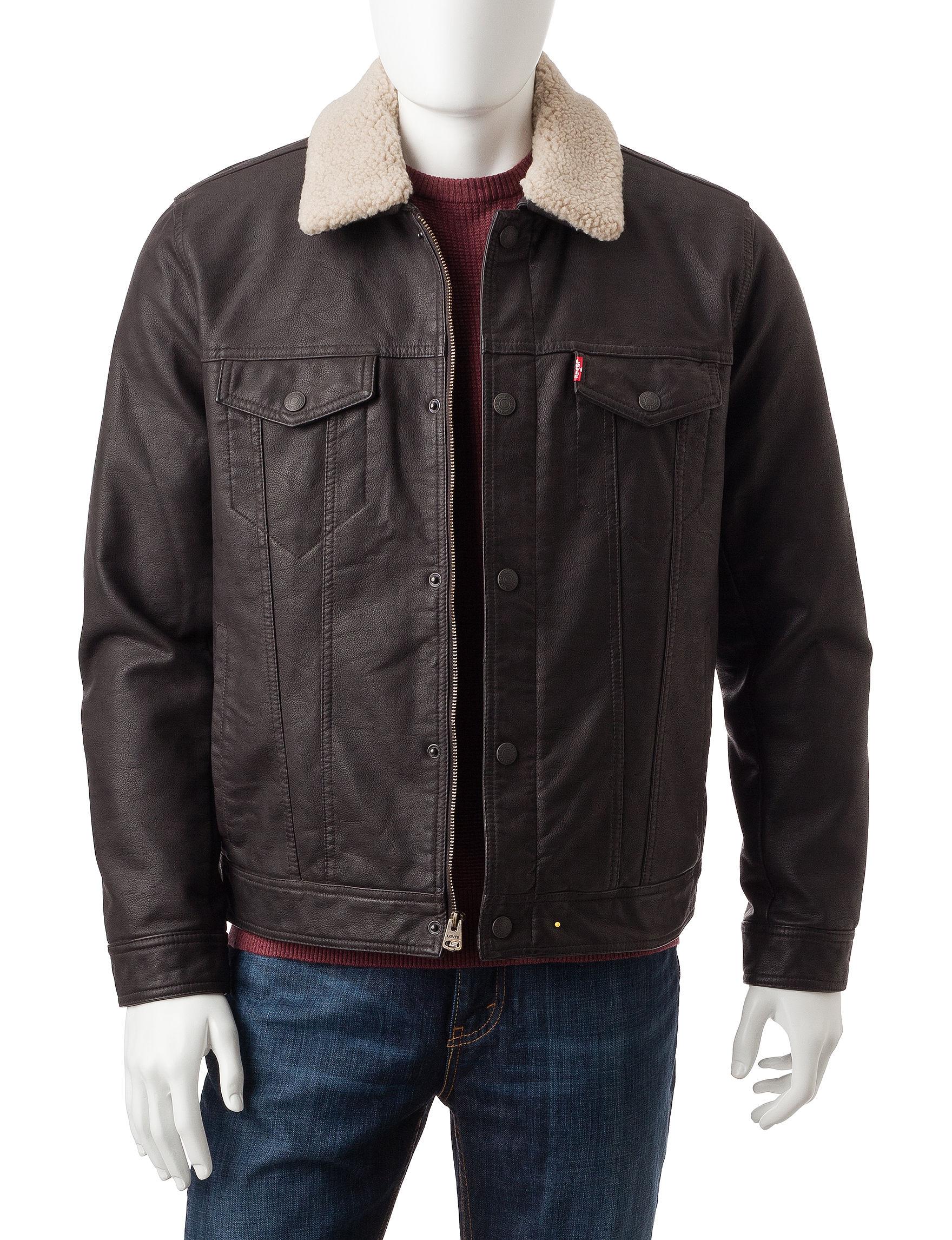Levi's Dark Brown Bomber & Moto Jackets