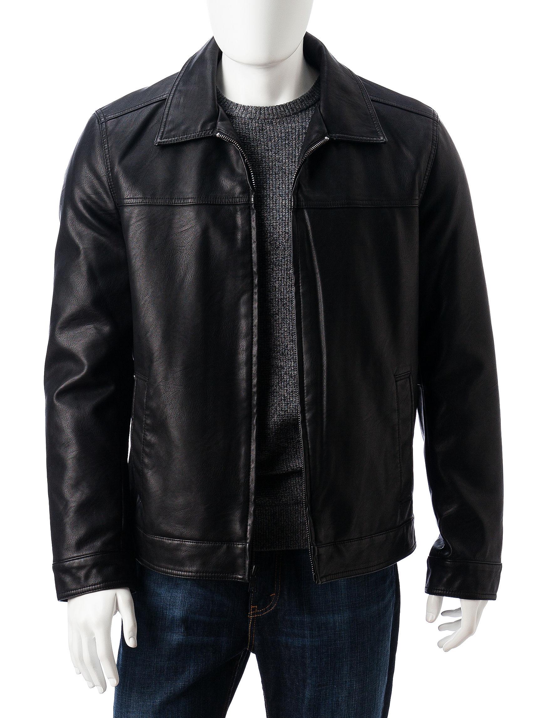 Tommy Hilfiger Black Bomber & Moto Jackets