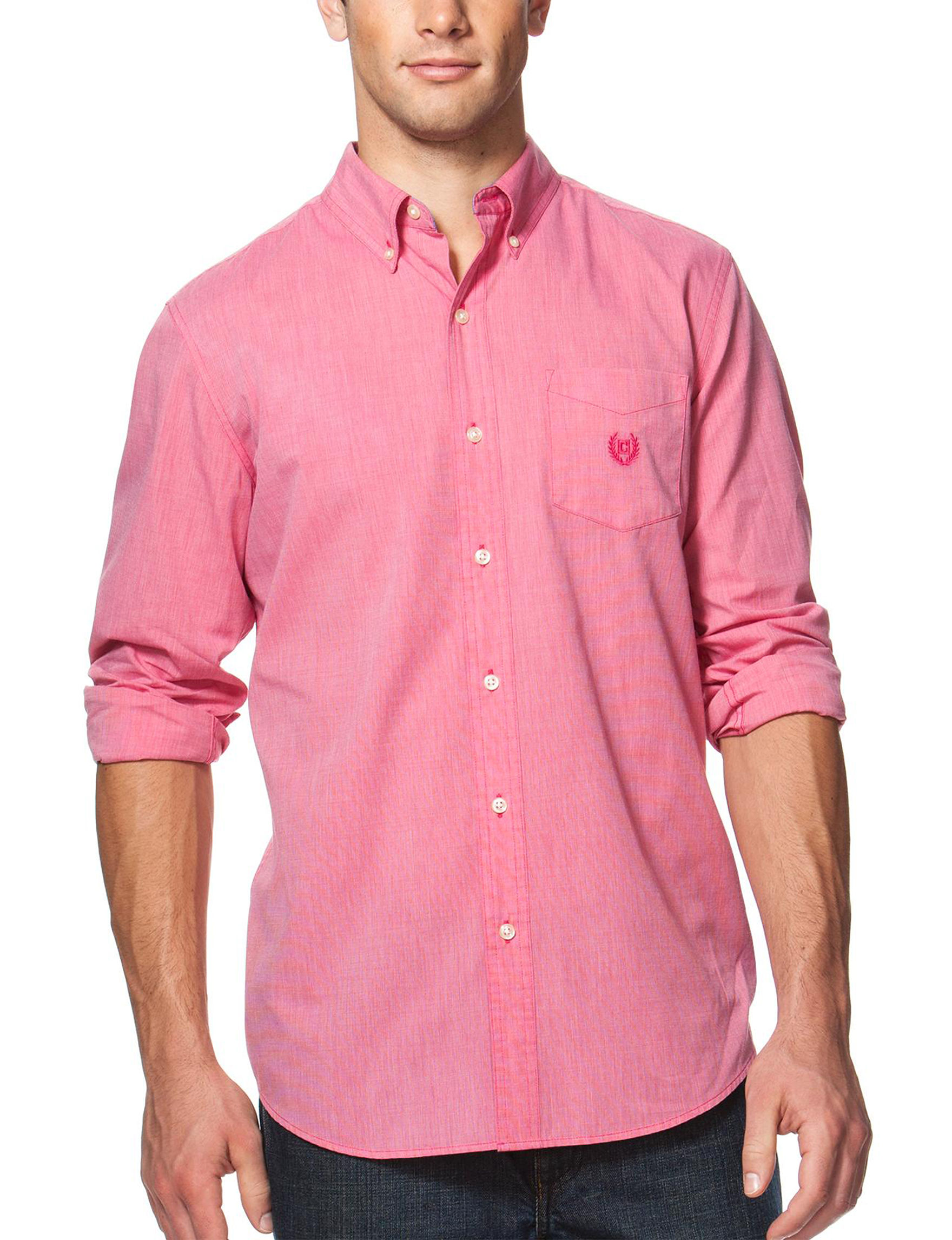 Chaps Pink Casual Button Down Shirts
