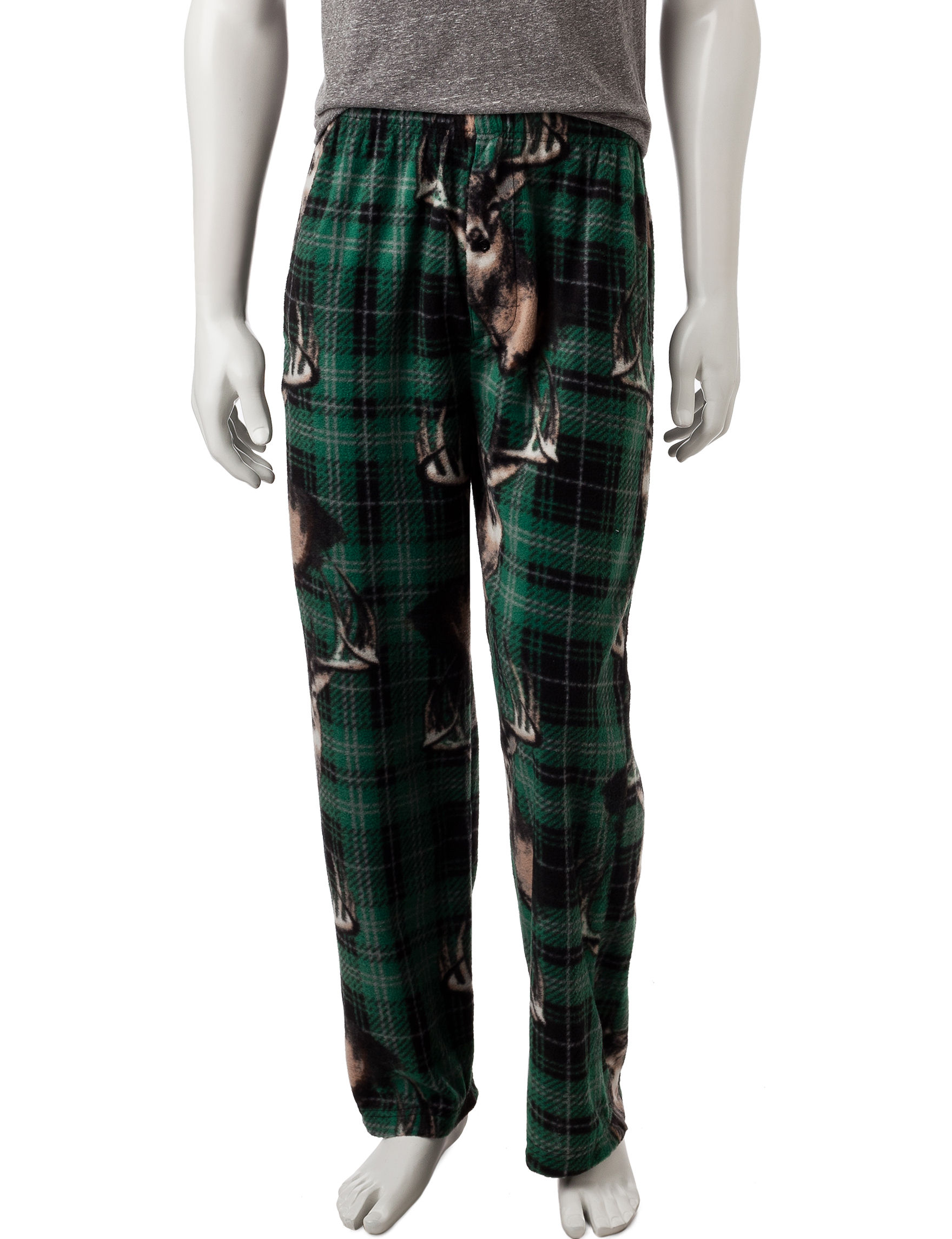 Fun Boxer Green Pajama Bottoms