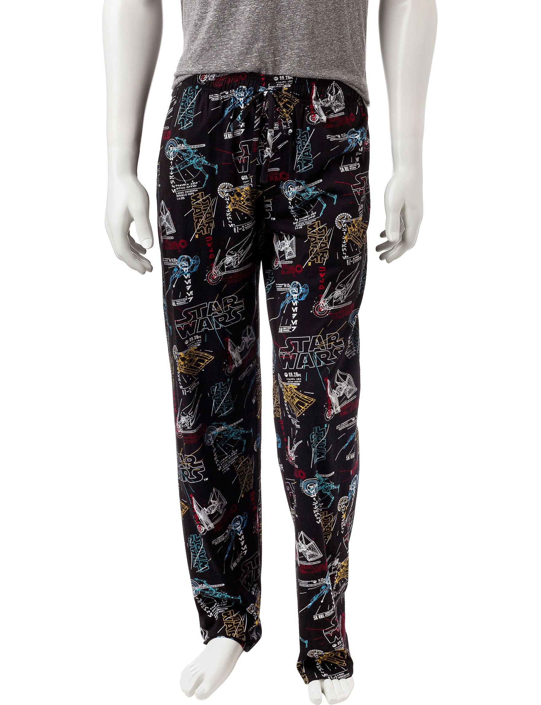 Licensed Black Pajama Bottoms