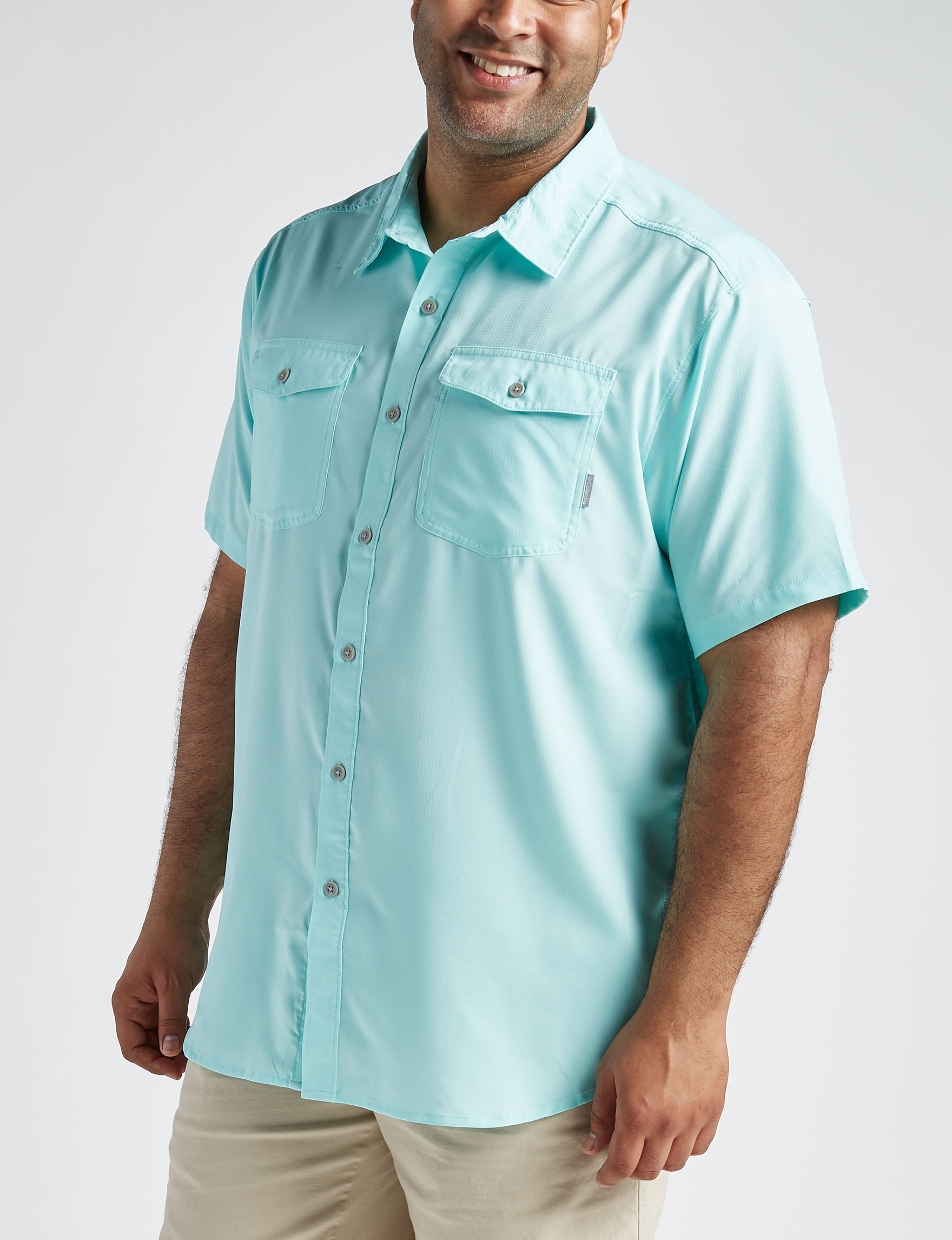 Columbia Aqua Casual Button Down Shirts