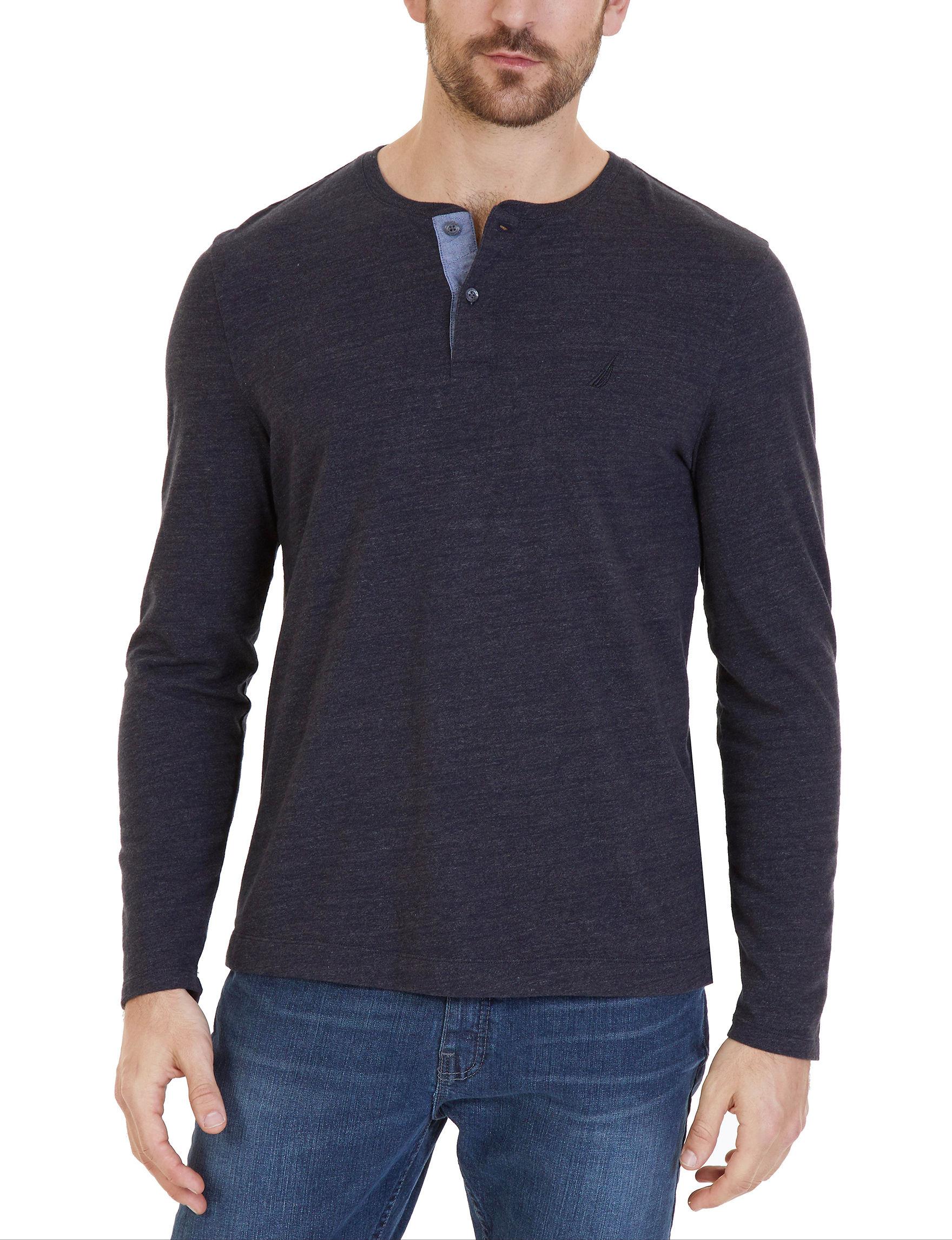 Nautica Black Casual Button Down Shirts Classic