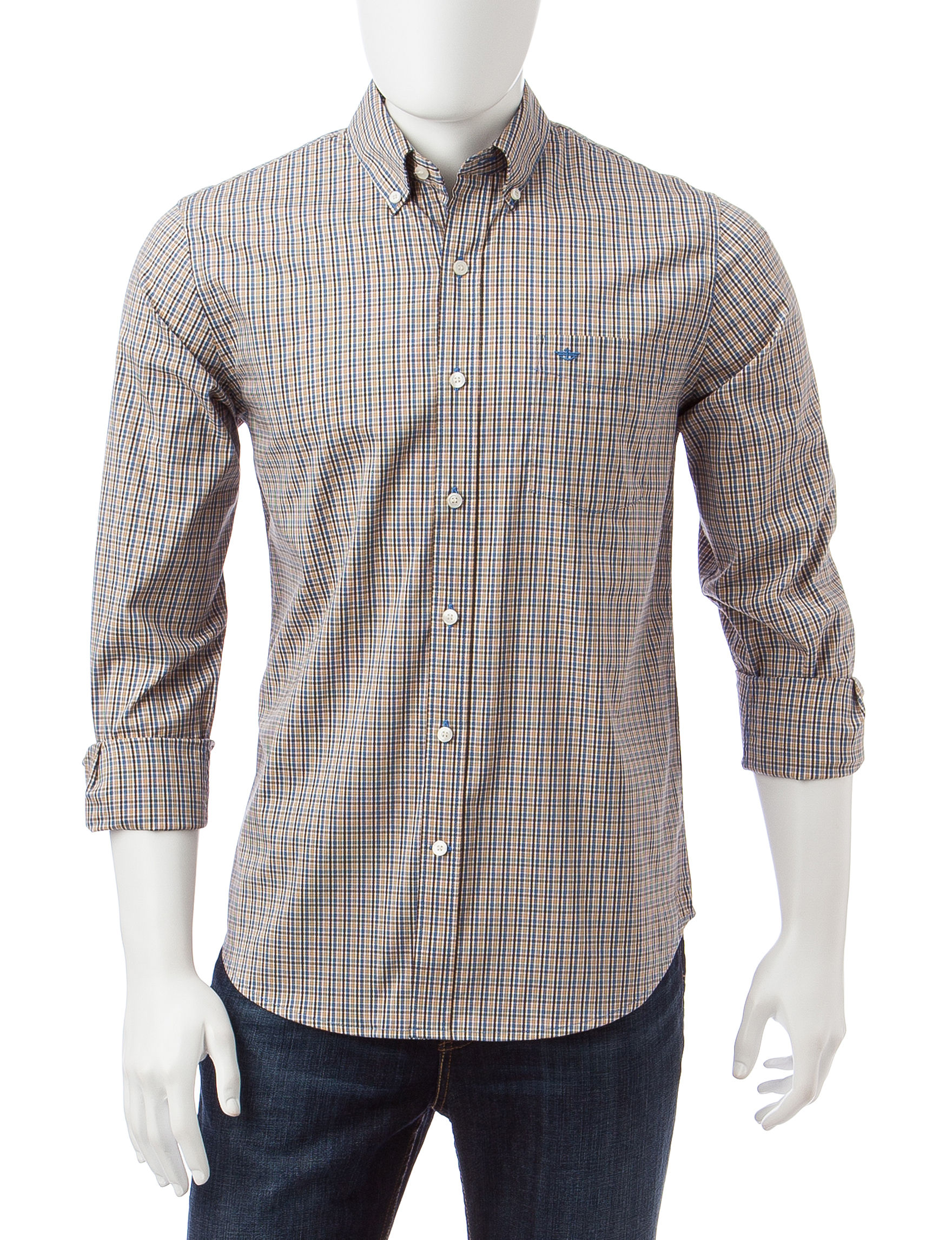 Dockers Natural Casual Button Down Shirts