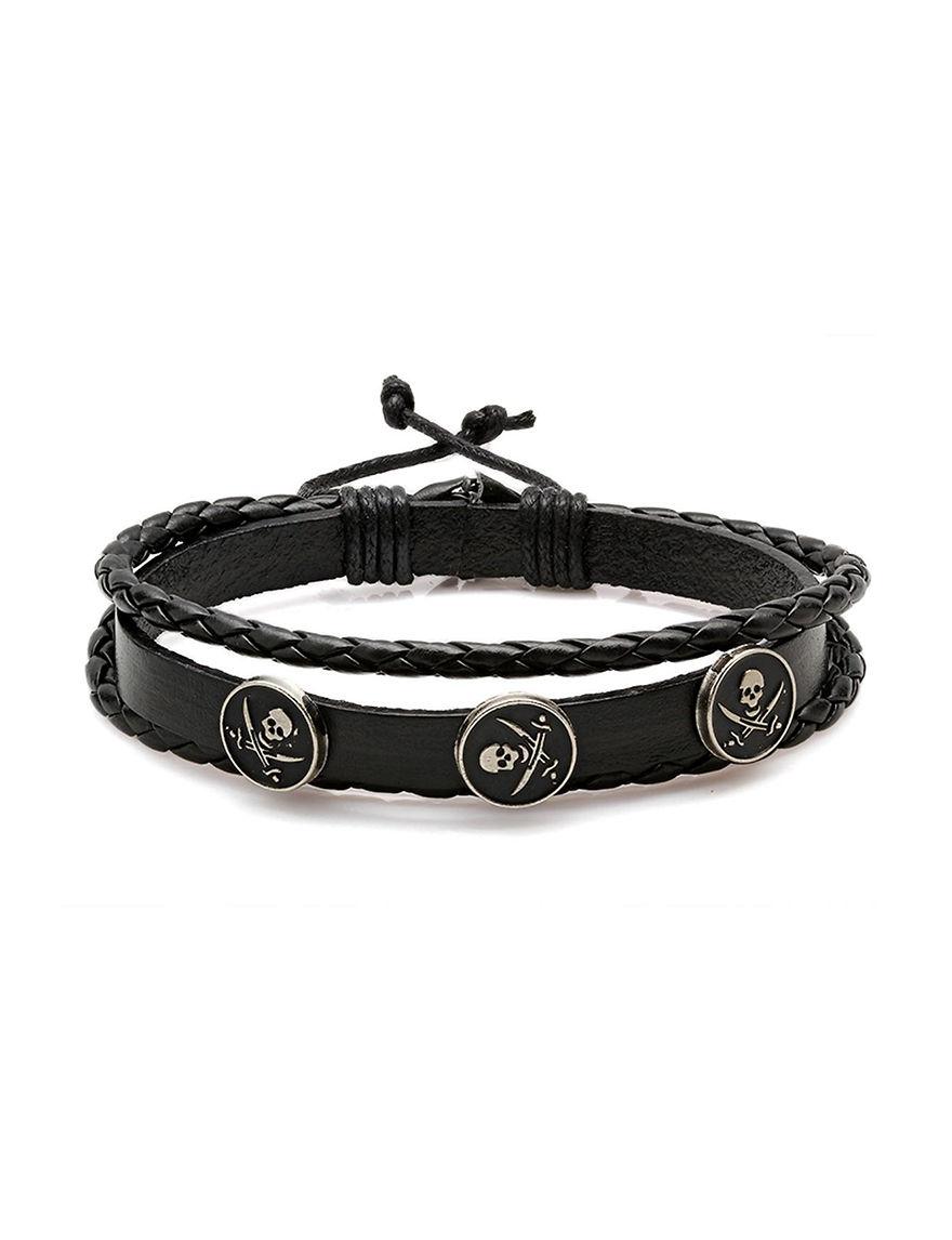 Steeltime Black Bracelets