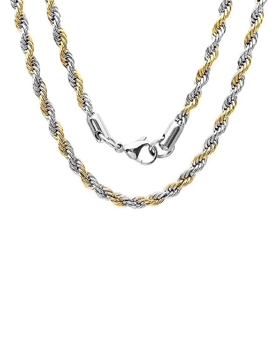 Steeltime Two Tone Necklaces & Pendants
