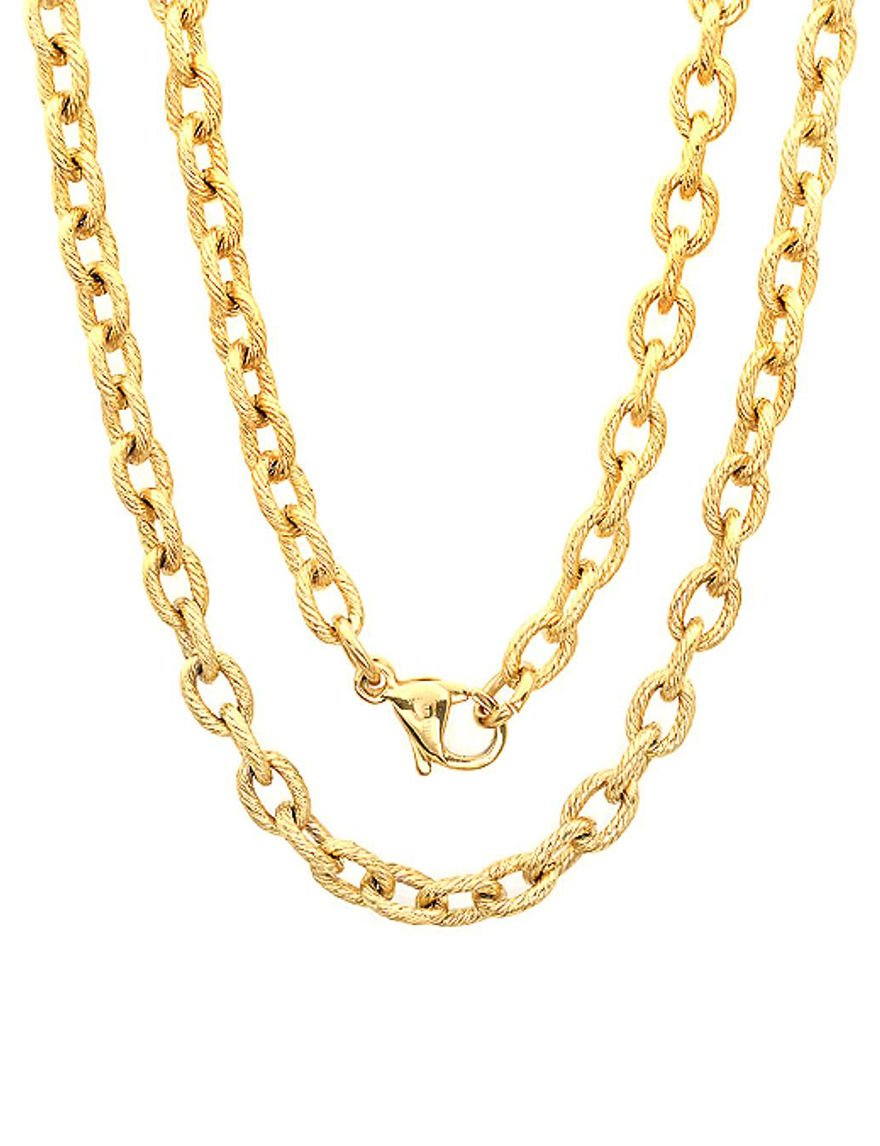 Steeltime Gold Necklaces & Pendants